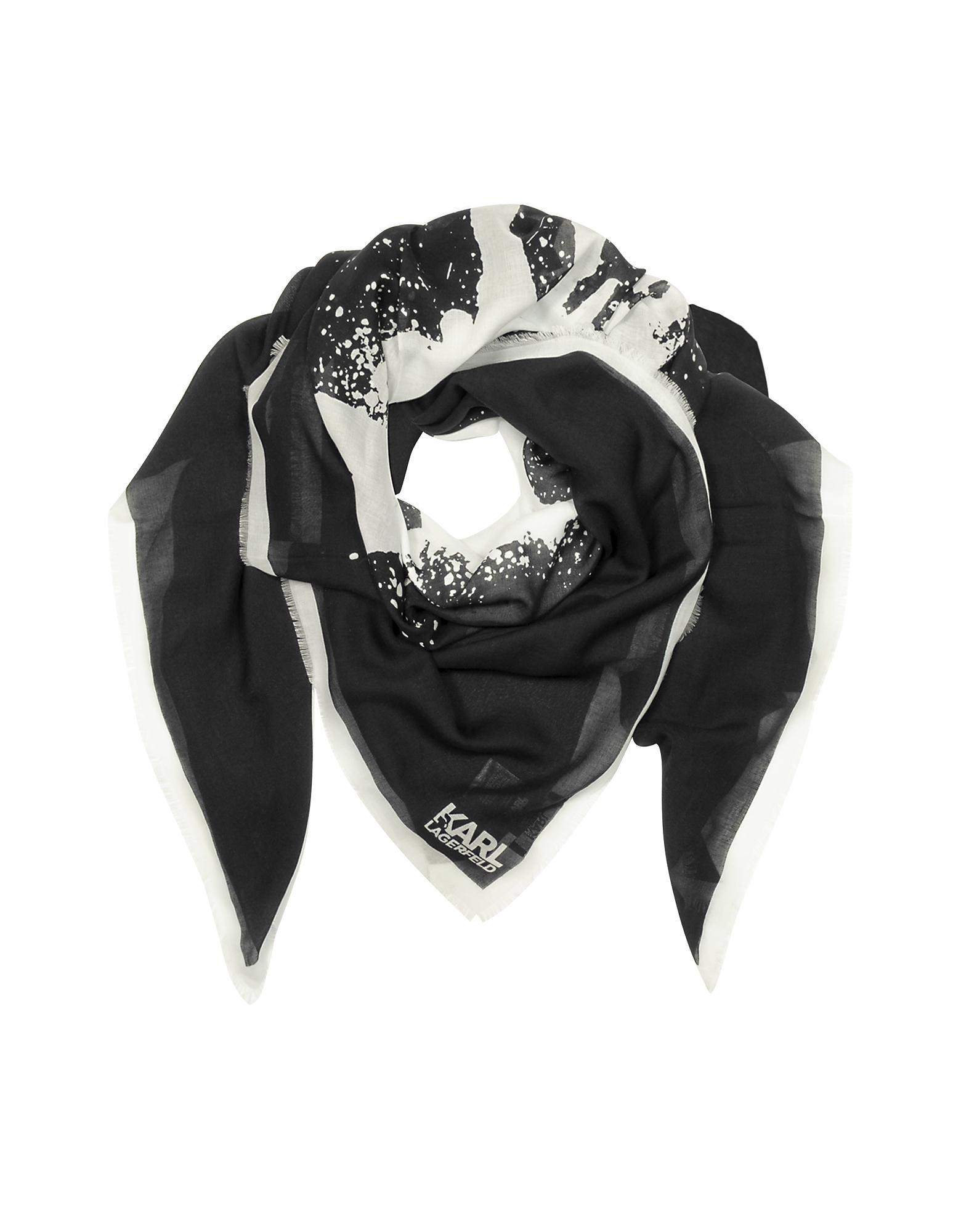 Sprayhead Metallic scarf - Black Karl Lagerfeld ndGP7zEz