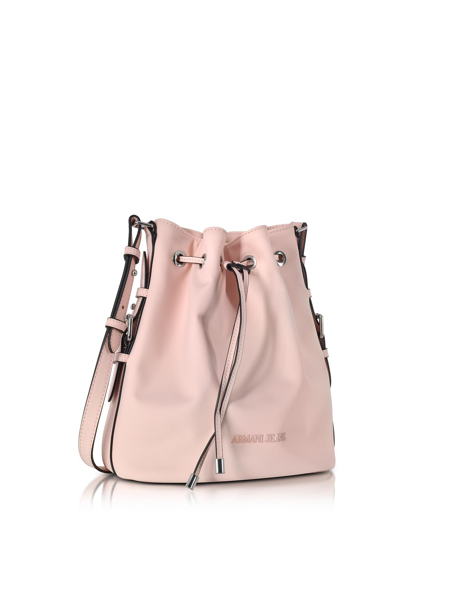 Lyst - Armani Jeans New Light Pink Eco Leather Bucket Bag in Pink 899a3279bf597