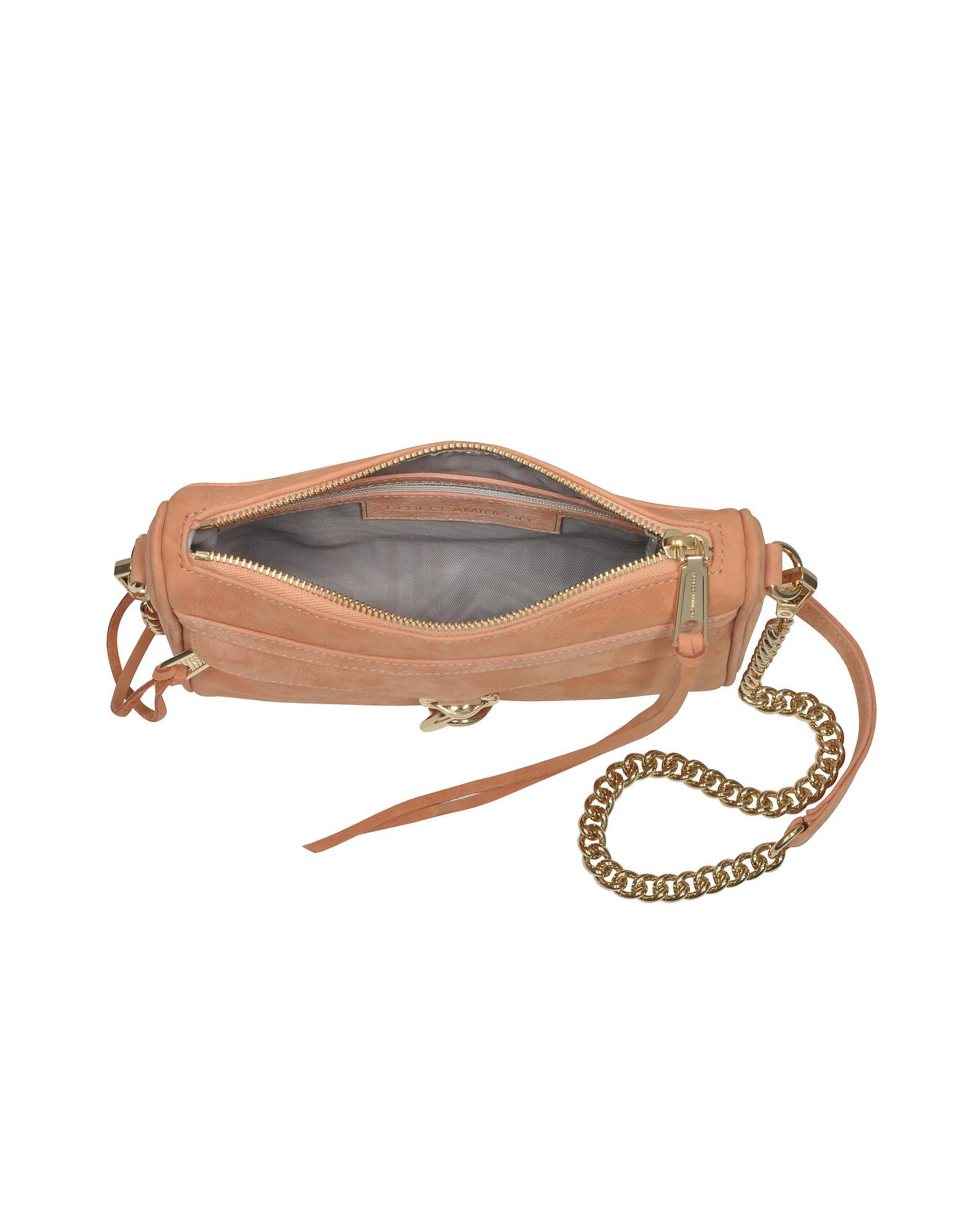 e11e4a7d4fe7c Lyst - Rebecca Minkoff Dusty Peach Leather Mini M.a.c. Crossbody Bag ...