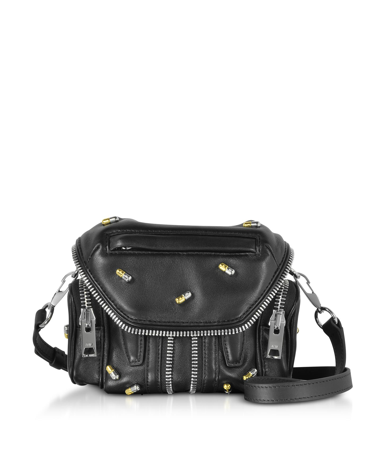 Lyst - Alexander Wang Pill Studded Micro Marti Bag in Black 6ea9b2ad968d9