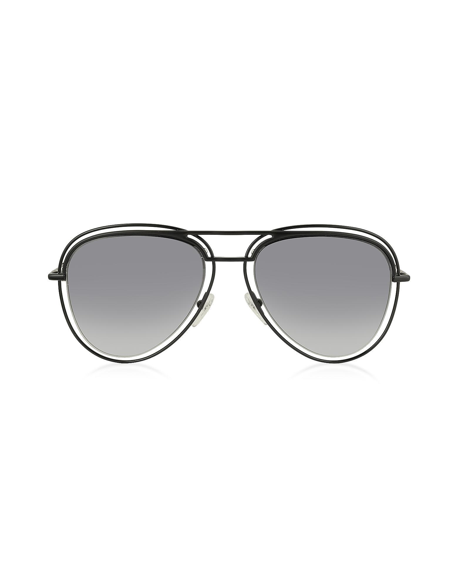 c4b72e4883cb Marc Jacobs. Black Marc 7/s Metal & Acetate Aviator Women's Sunglasses