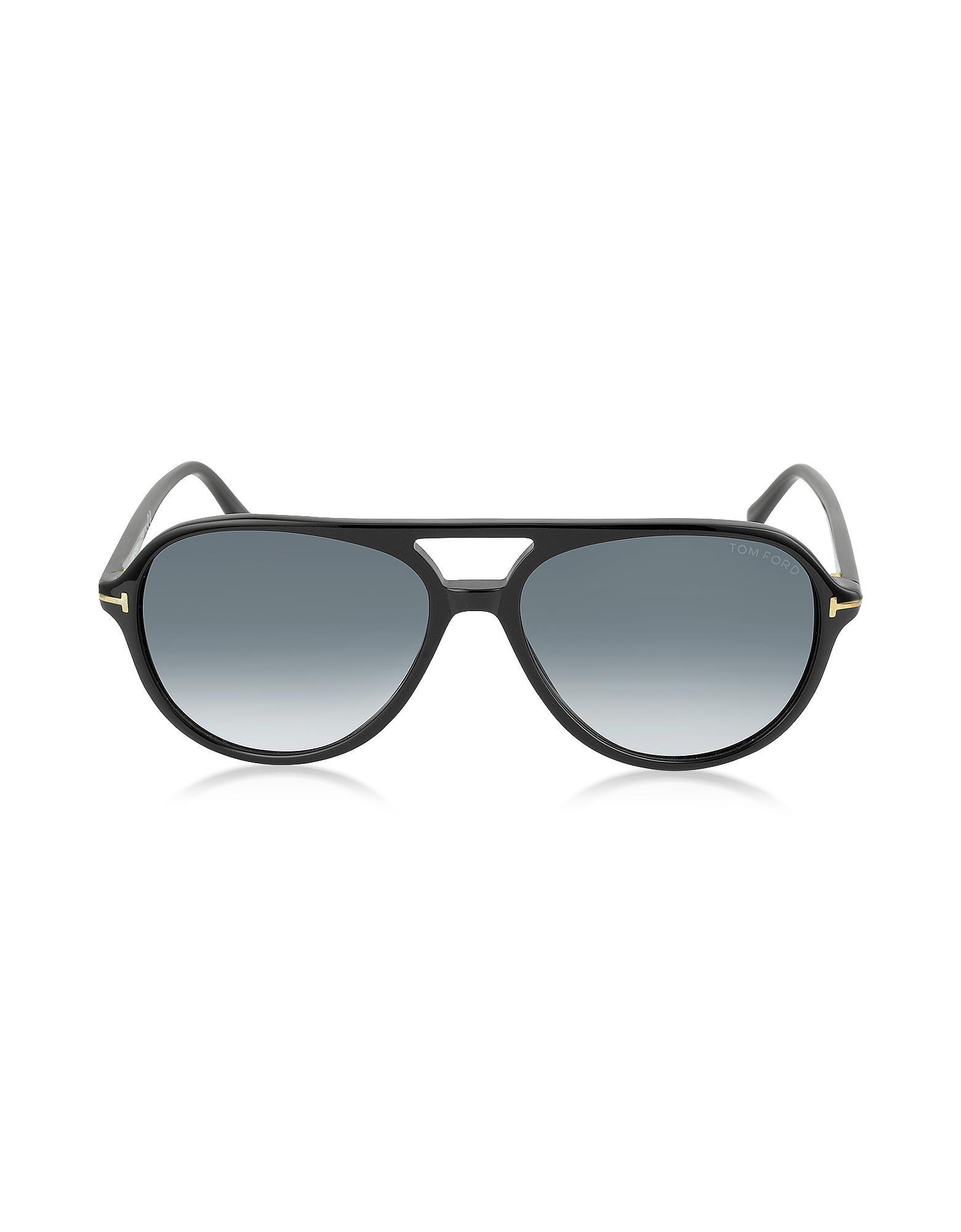 384cb27b09 JARED FT0331 Gafas de Sol de Acetato con Montura Estilo Aviador Tom ...