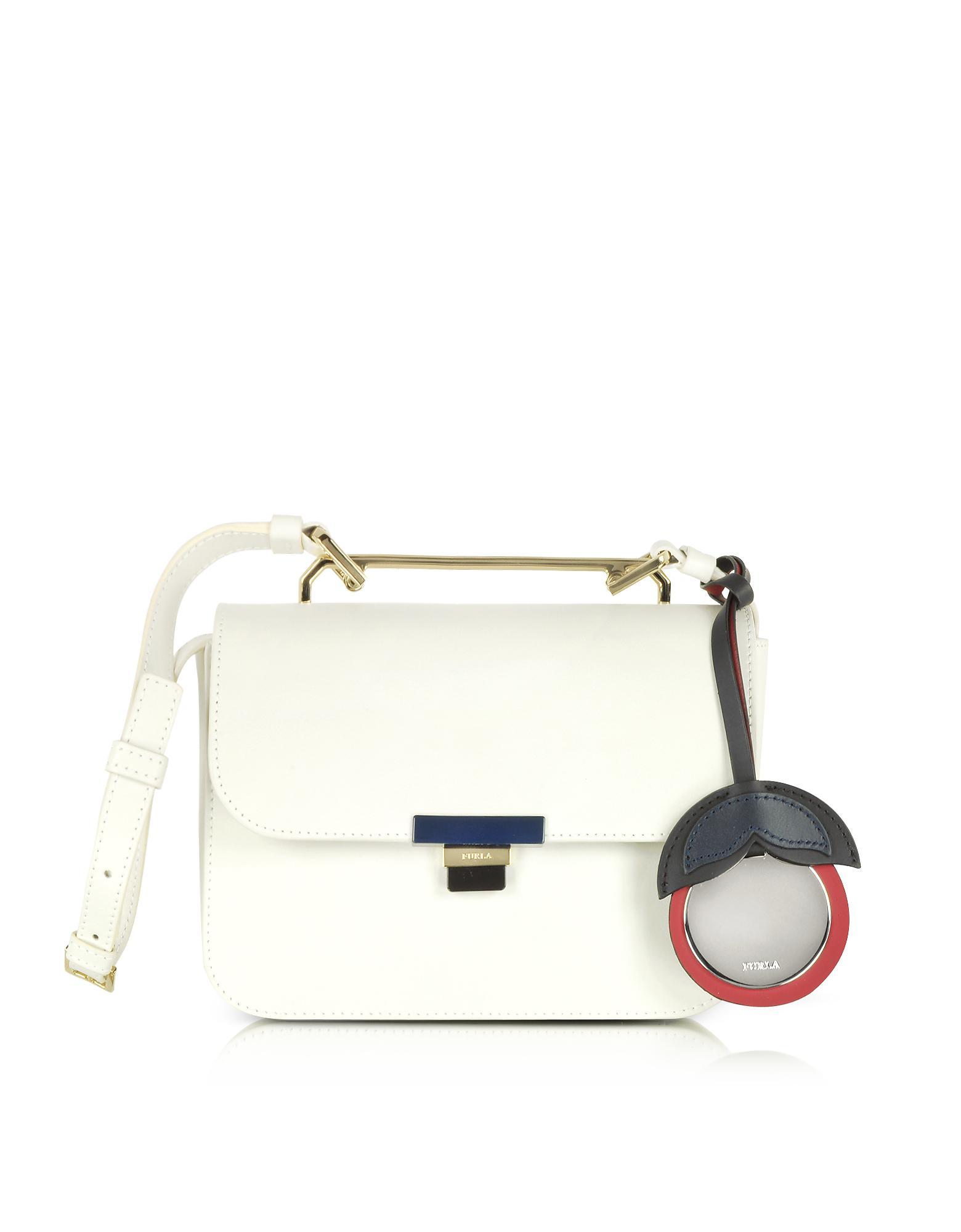 cf2b9bb2cd Lyst - Furla Petalo Leather Elisir Mini Crossbody Bag in White