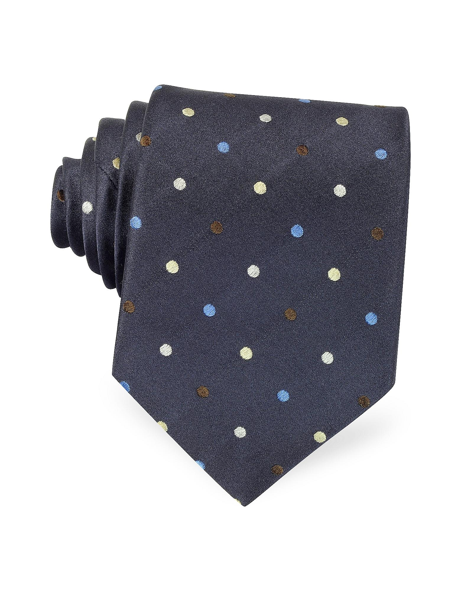 Ribbon Brown With Light Blue Dots 109