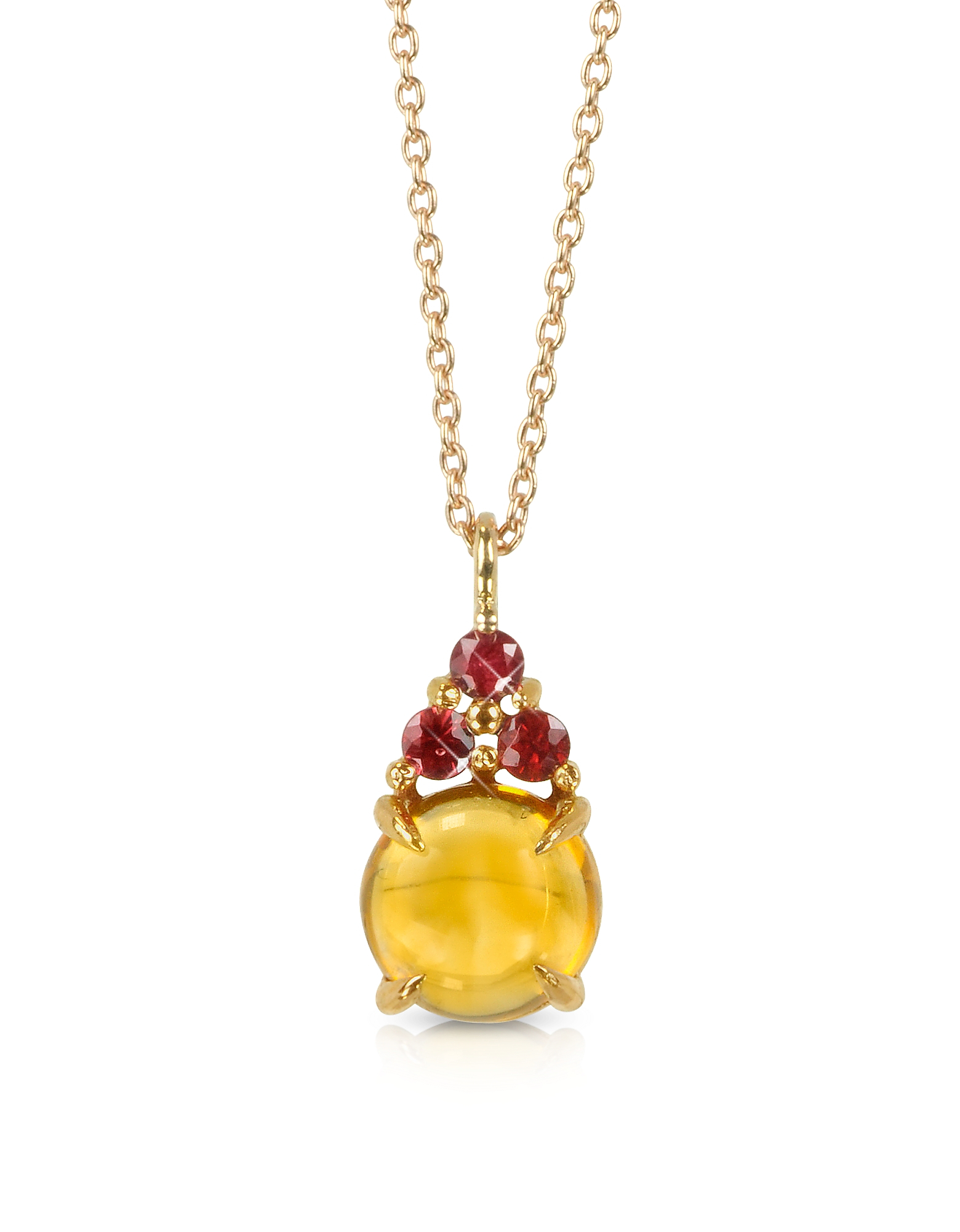 Lyst Mia Amp Beverly Citrine Quartz And Red Sapphires 18k