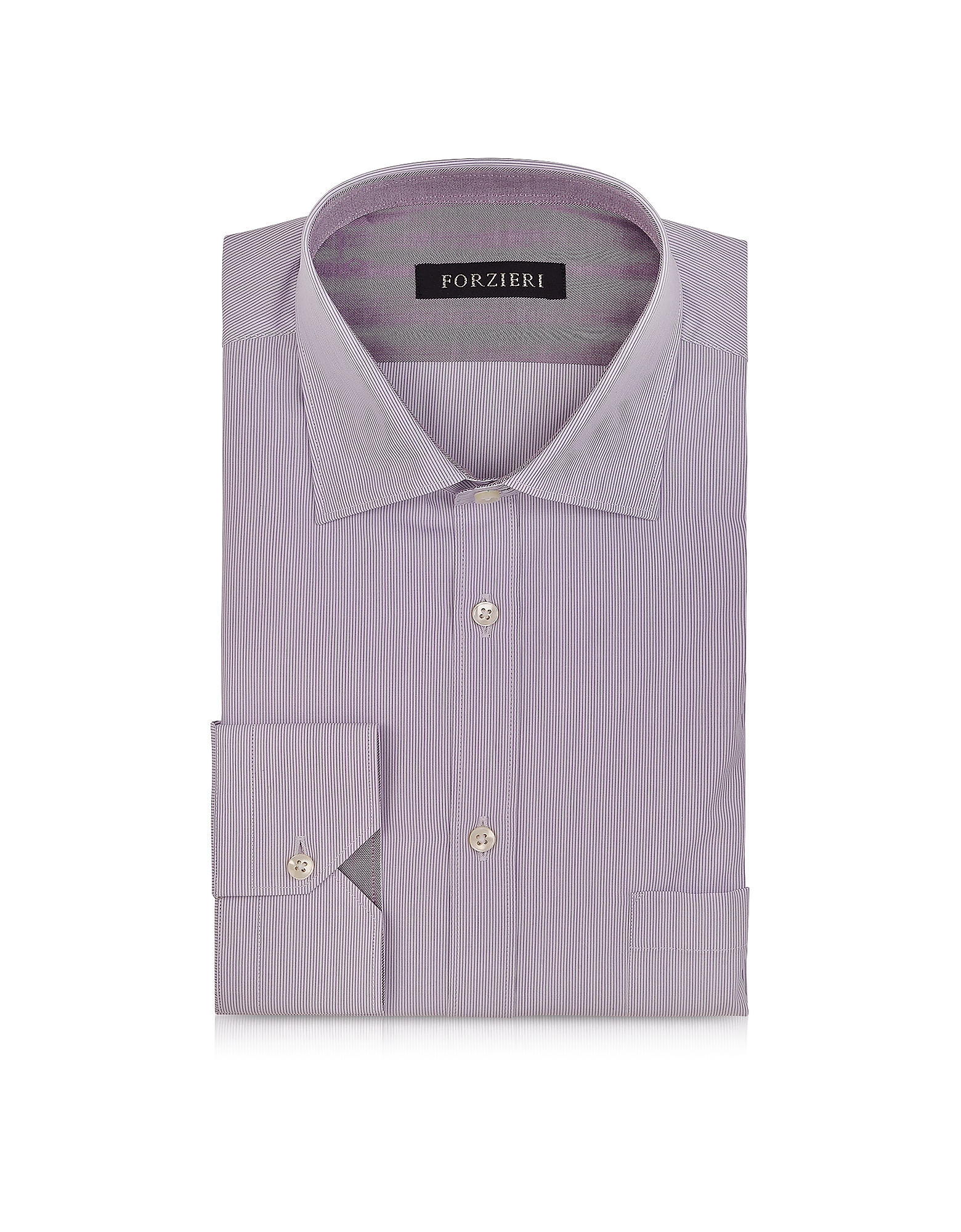 Forzieri light purple striped cotton shirt in purple for Light purple dress shirt men