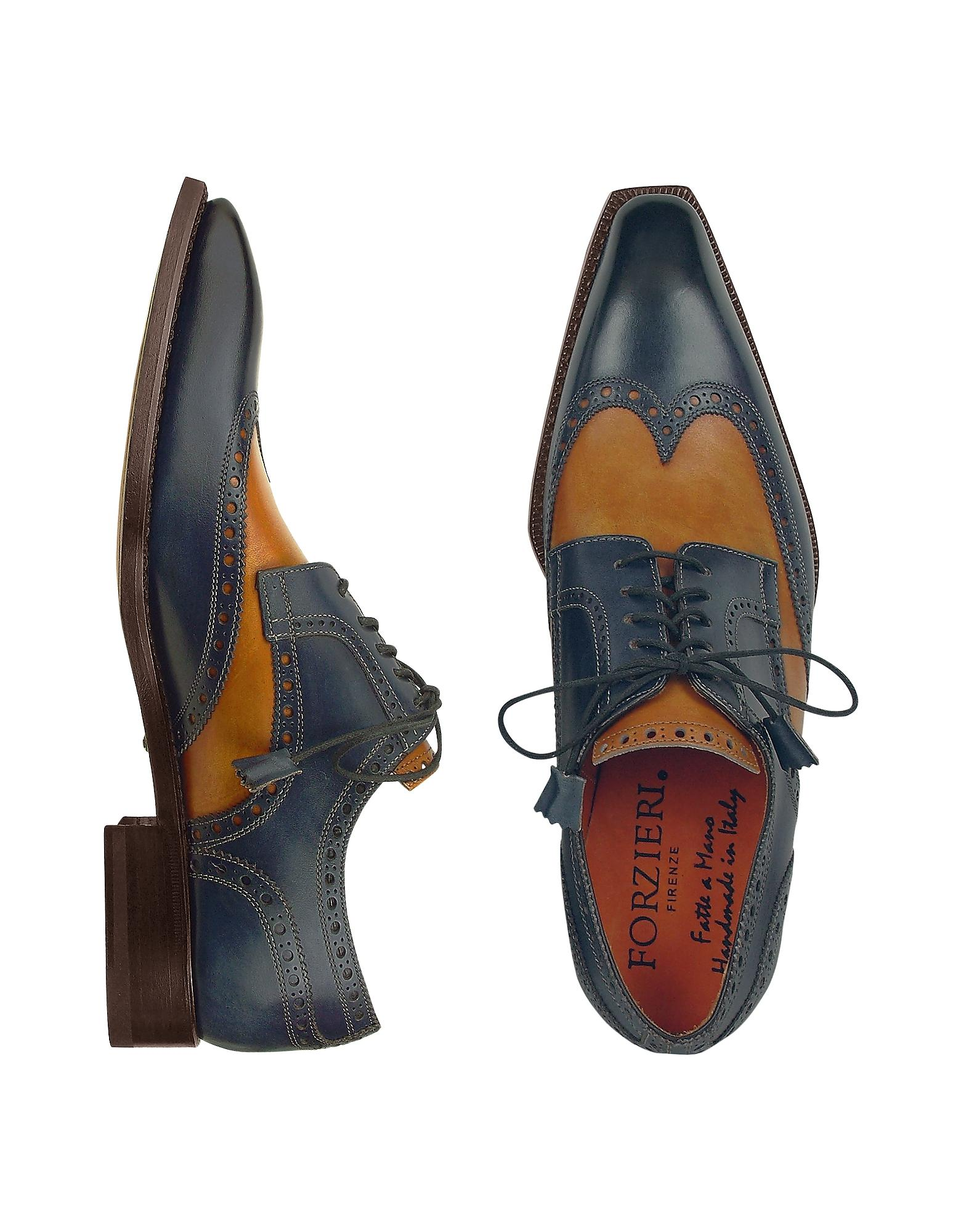 Womens Oxford Shoes Blue Two Tone