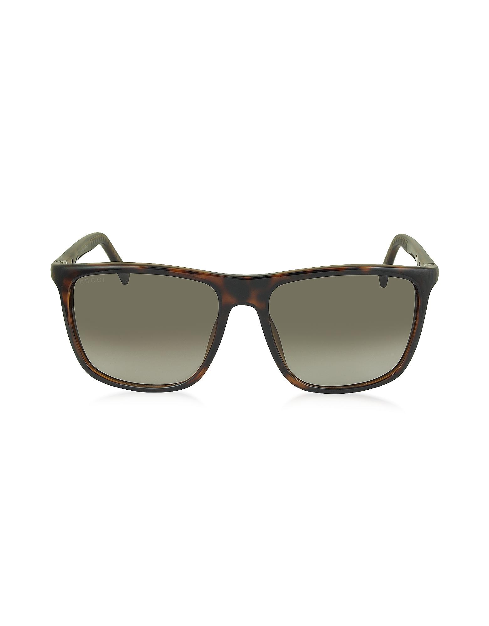 acfc107e5b Buy Gucci Women s Brown Gg 1132 s Dwjha Havana Acetate Square Frame Men s  Sunglasses
