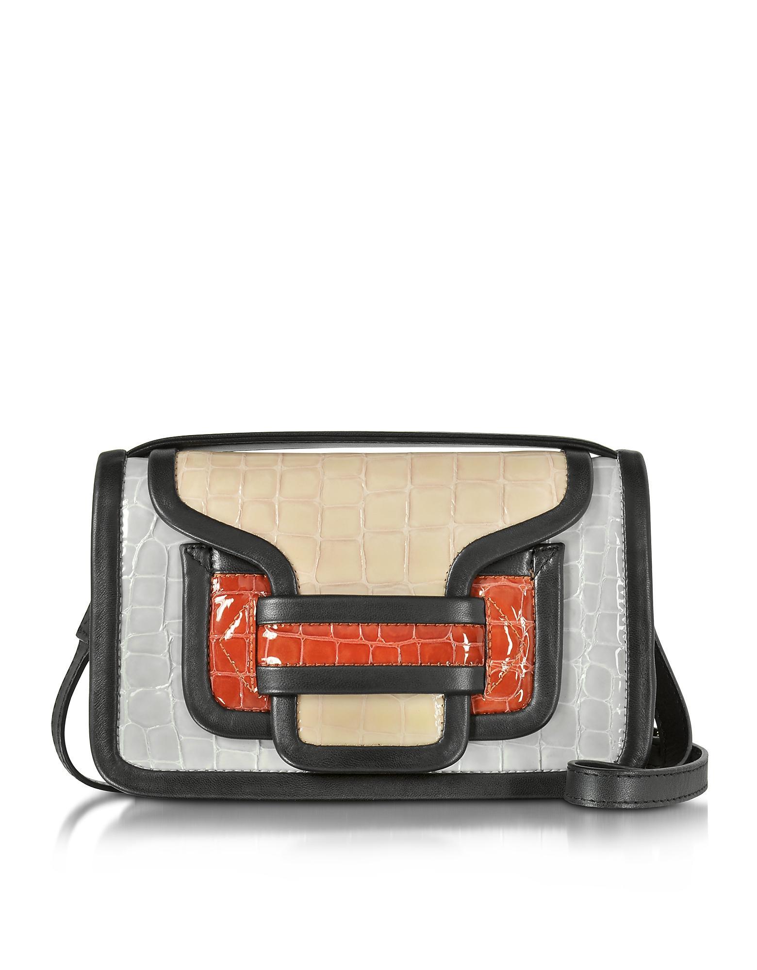 Dkny Patent Croco Crossbody Bag 58
