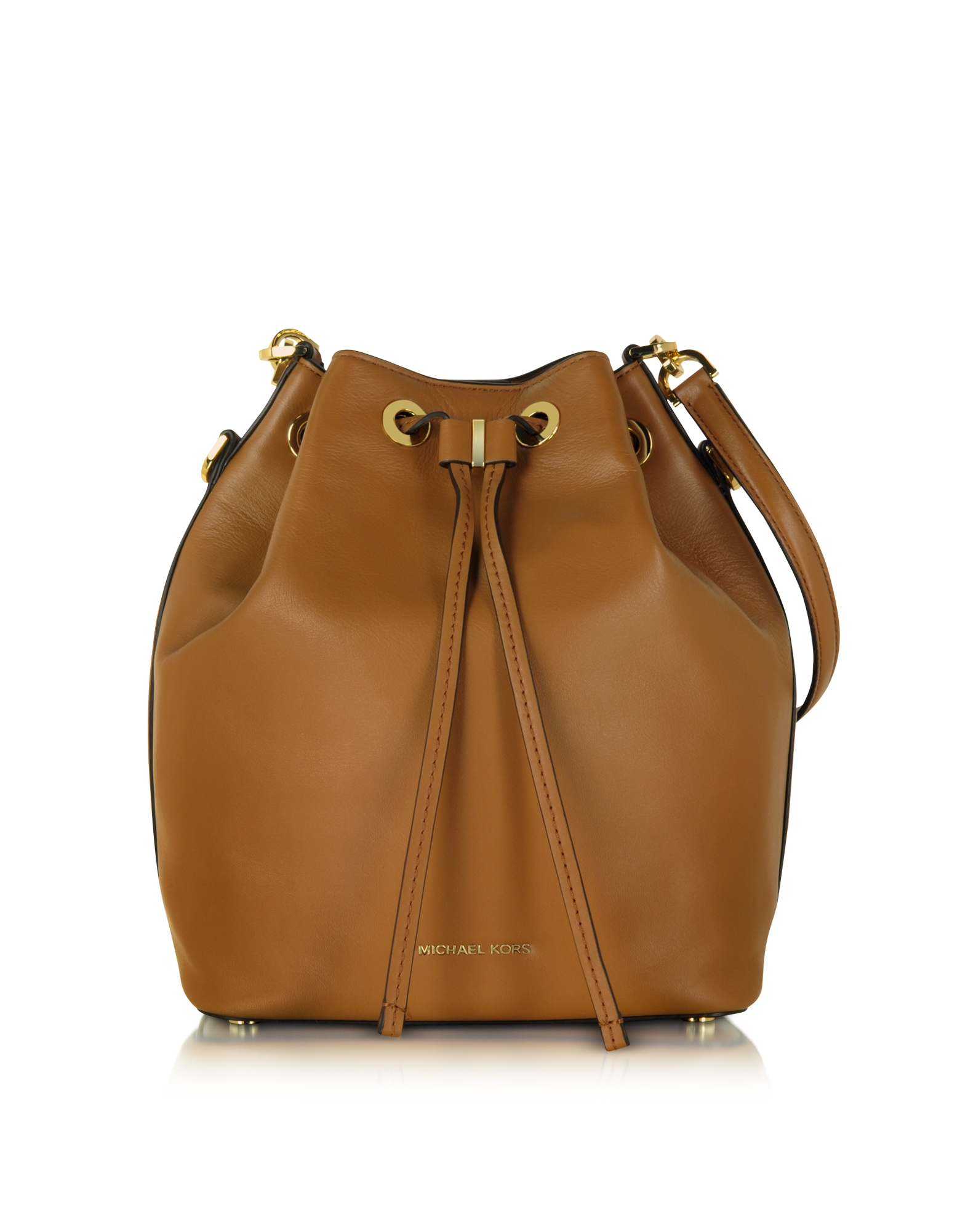 Lyst - Michael Kors Dottie Acorn Large Bucket Bag in Brown 8b625315fe571