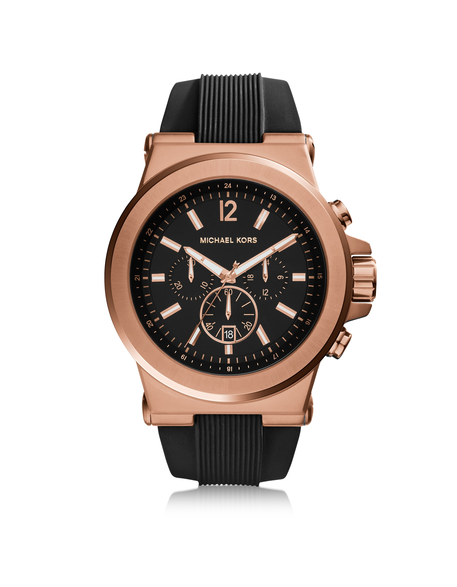 michael kors gold tone stainless steel and