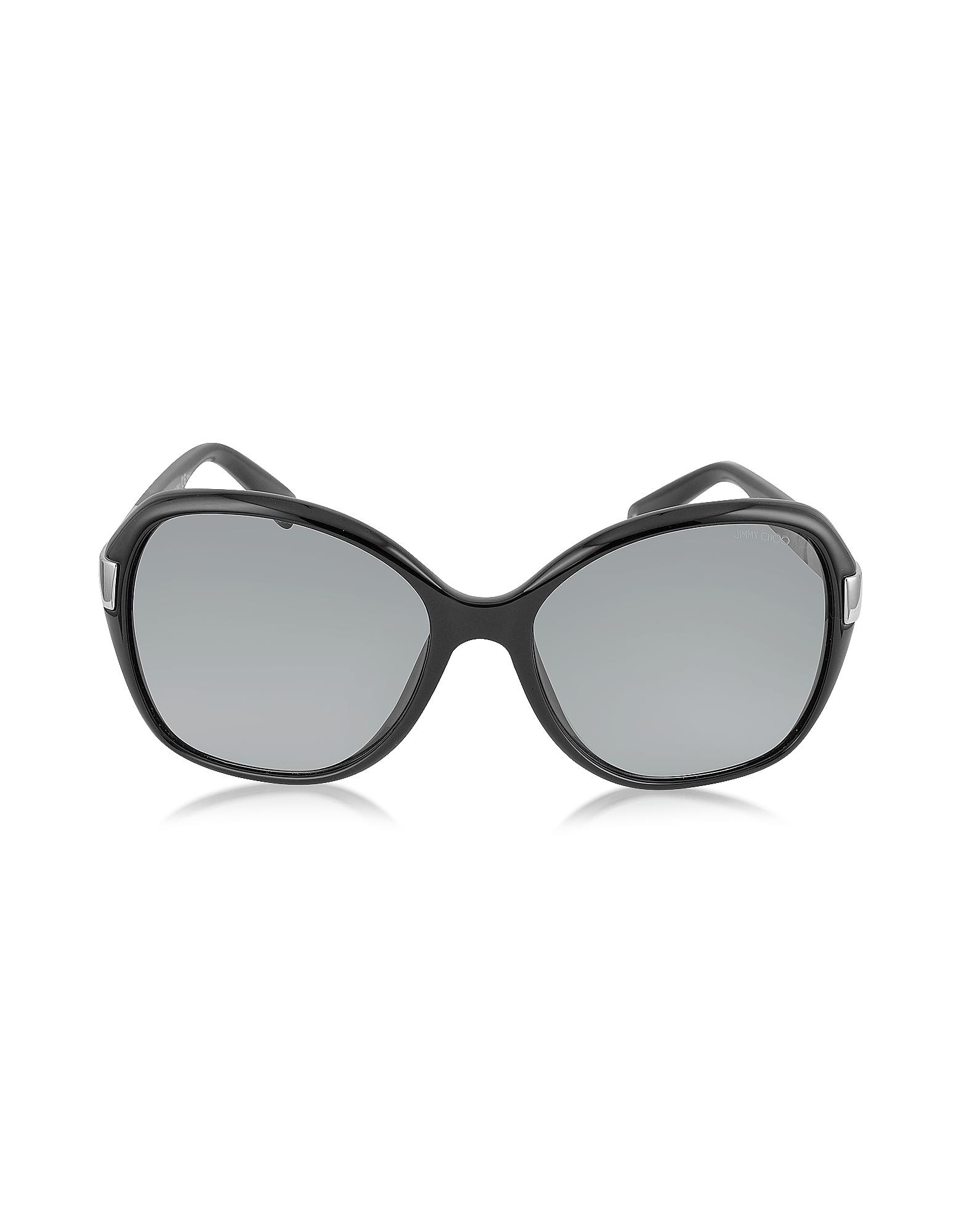 a6c63fb770 Jimmy Choo Alana s Round Framed Sunglasses W crystal Inserts in ...