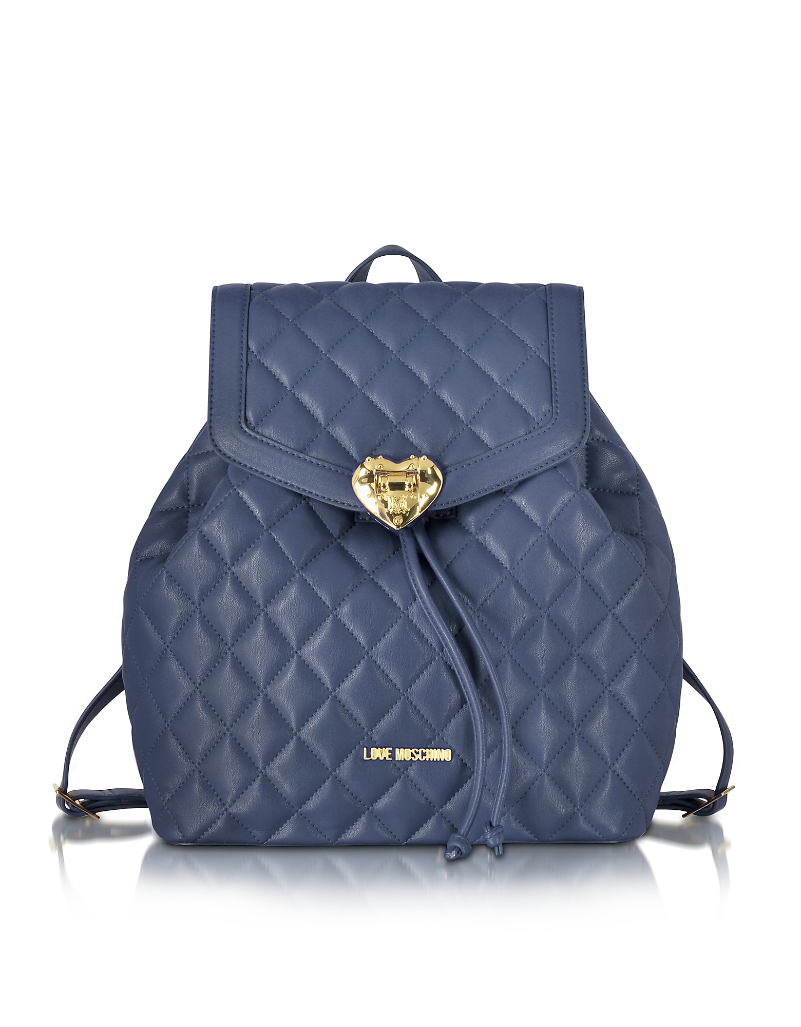99086038268 Love Moschino Heart Quilted Eco Leather Backpack in Blue - Lyst