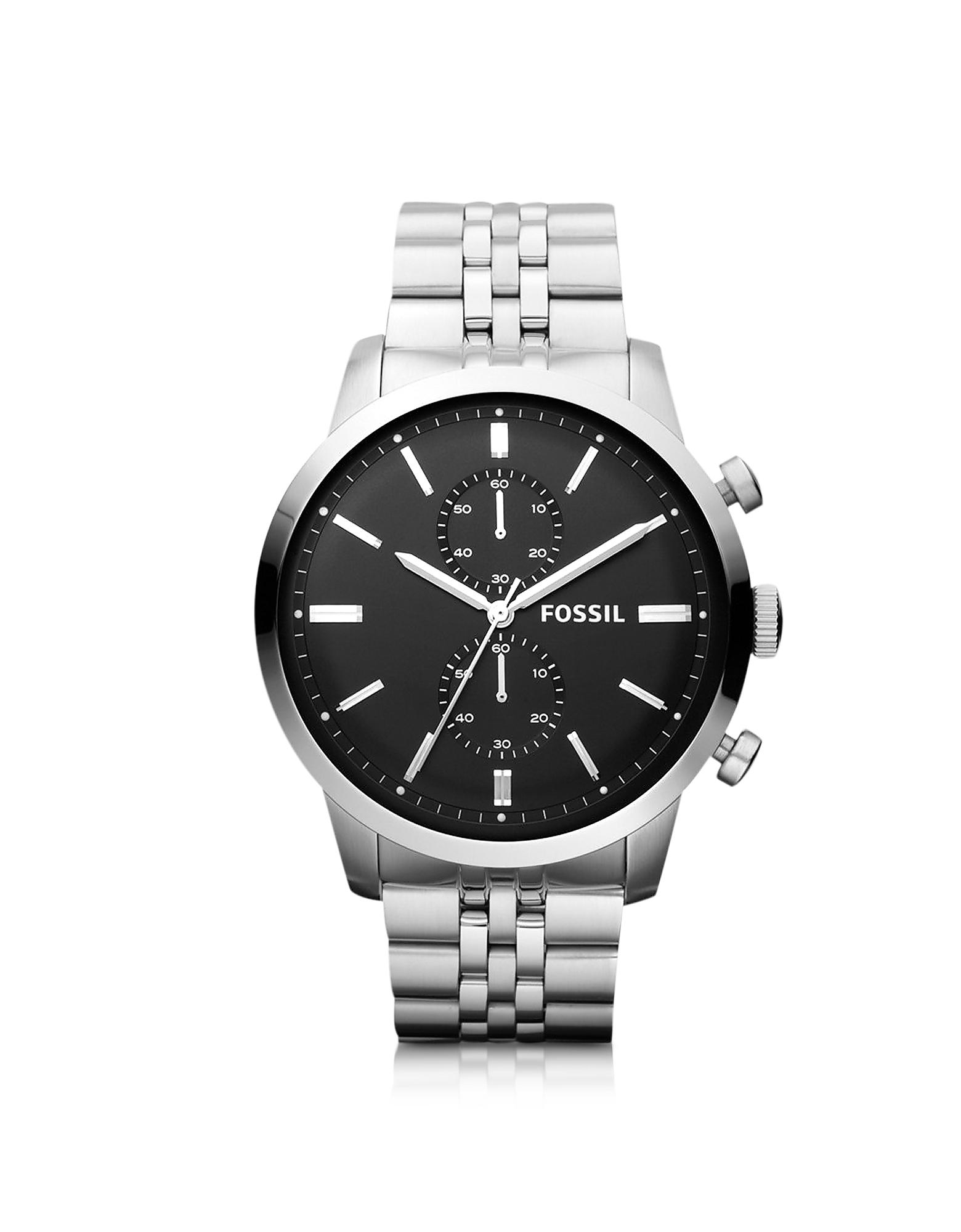 Lyst Fossil Townsman Chronograph Silver Stainless Steel