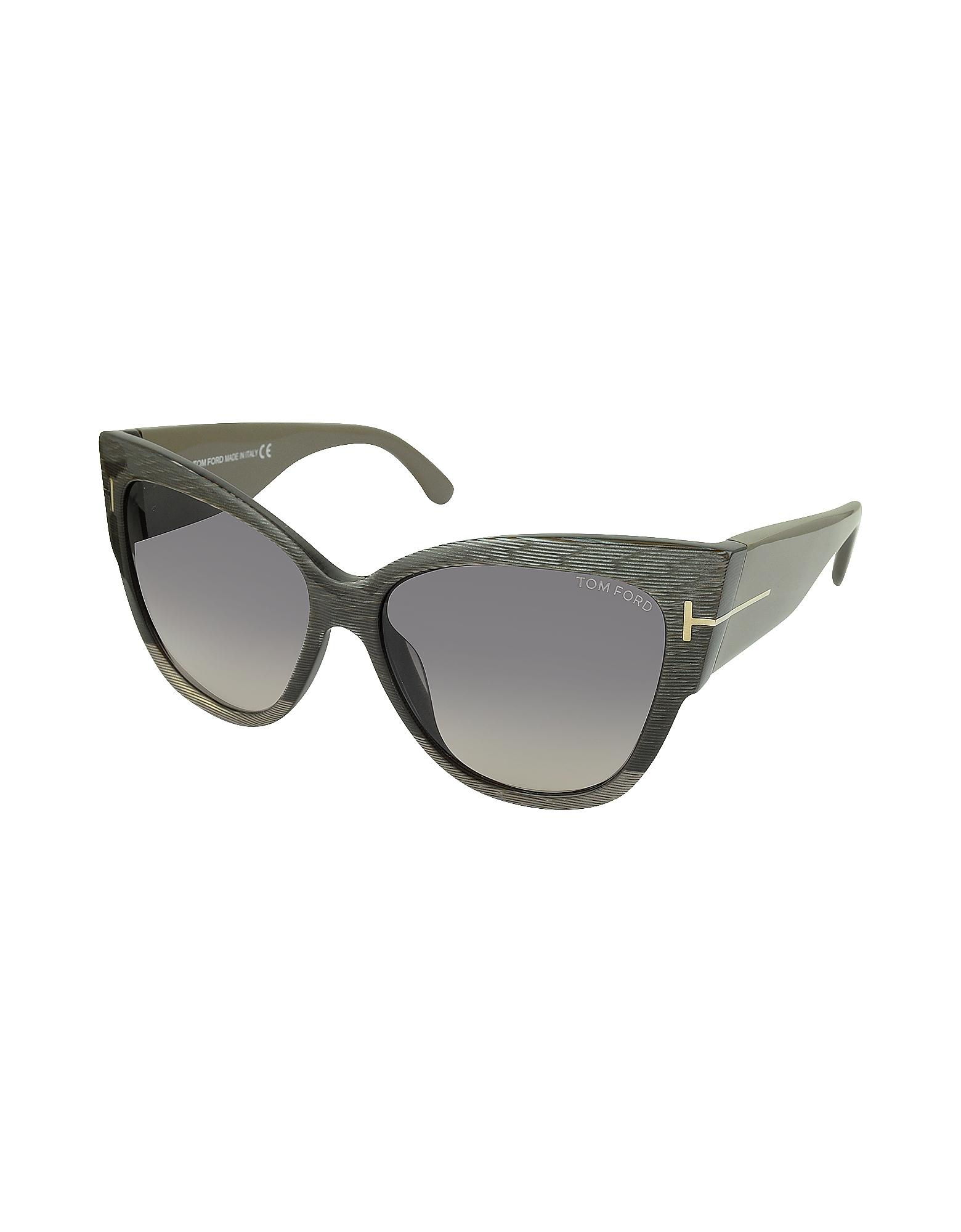 3770fc29552b Tom Ford Anoushka Ft0371 38b Dove Grey Cat Eye Sunglasses in Gray - Lyst