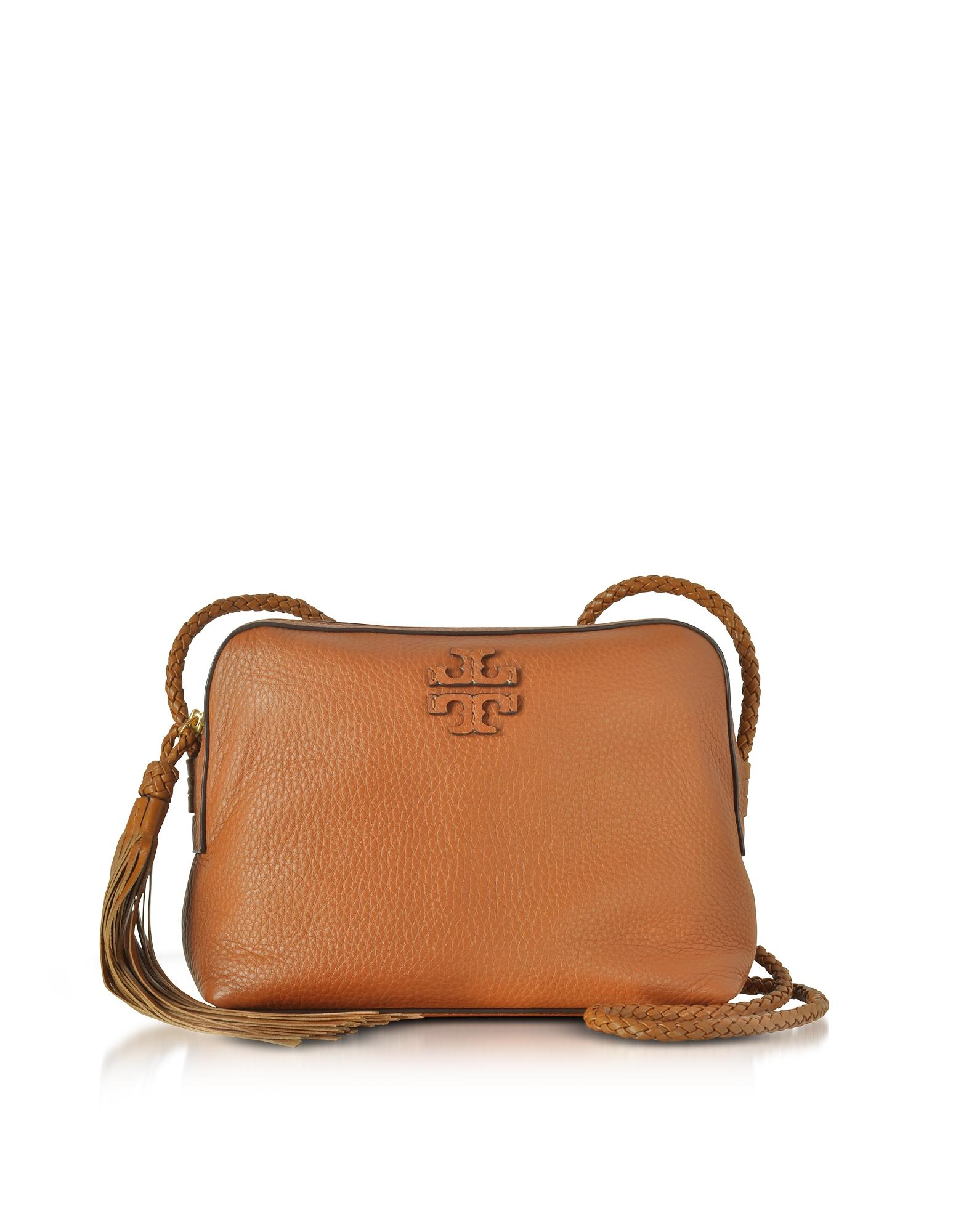 65c2806d529 Lyst - Tory Burch Taylor Saddle Pebble Leather Camera Bag in Brown