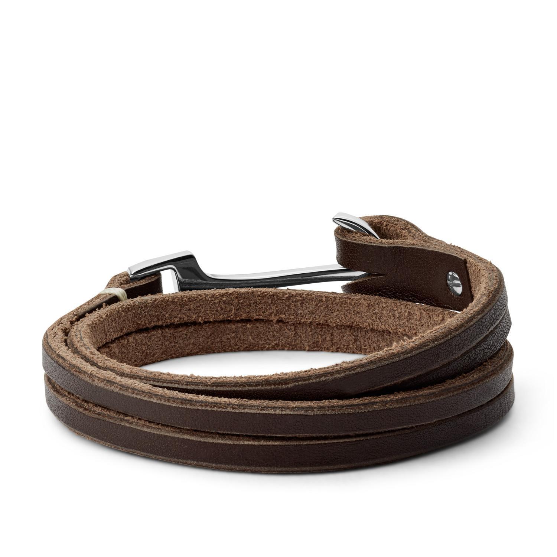 d26f5dd7775e59 Lyst - Fossil Men's Anchor Bracelet in Brown for Men - Save 26%