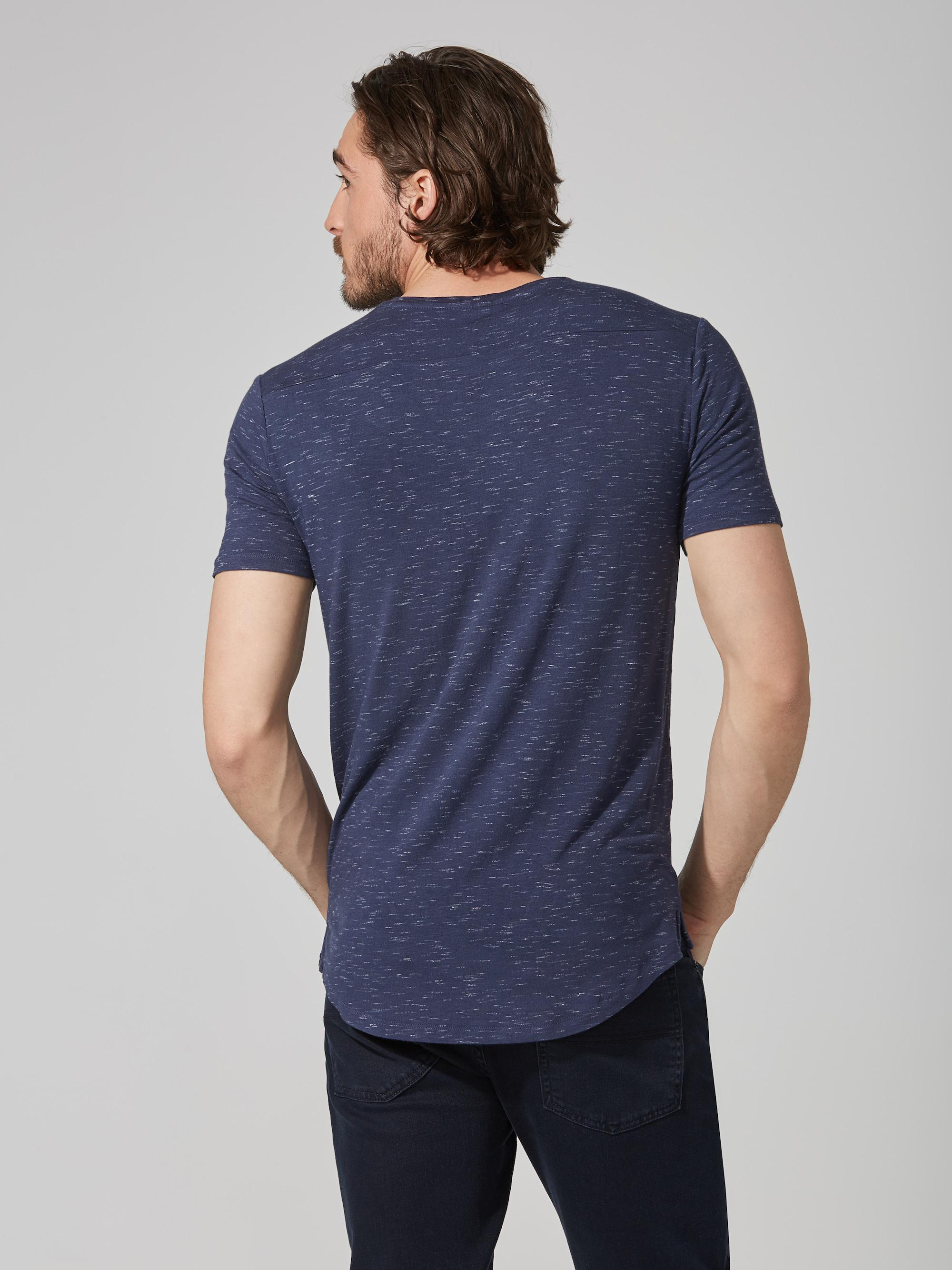 1d6e0d5e0a Lyst - Frank And Oak Loose Fit Jersey T-shirt In Blue Melange in ...
