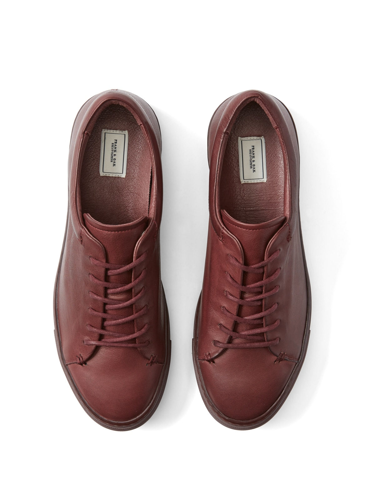Lyst Frank Oak Park Leather Low top Sneakers In Burgundy