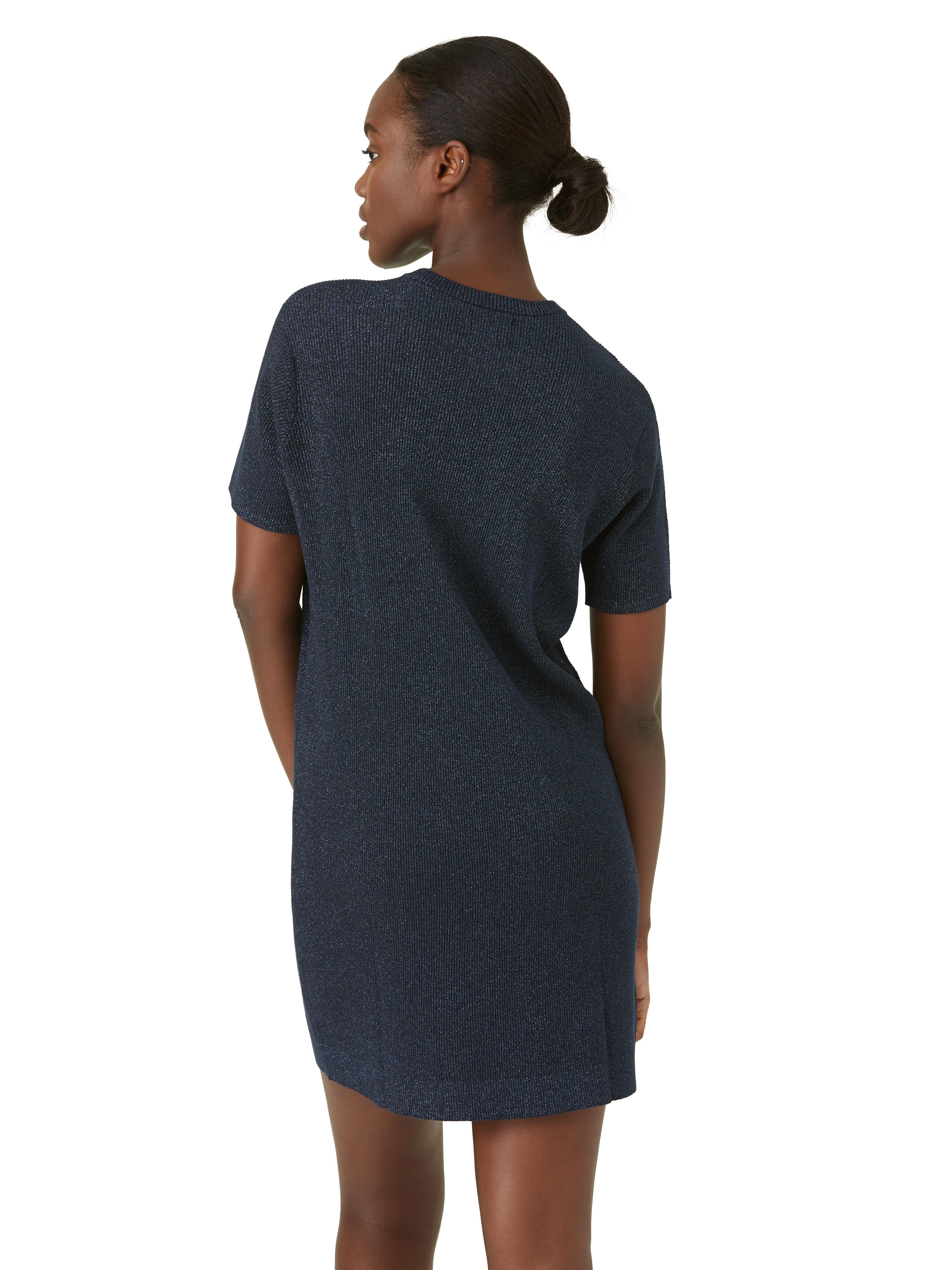 Lyst frank oak lurex shimmer t shirt dress in navy in blue for Frank and oak shirt