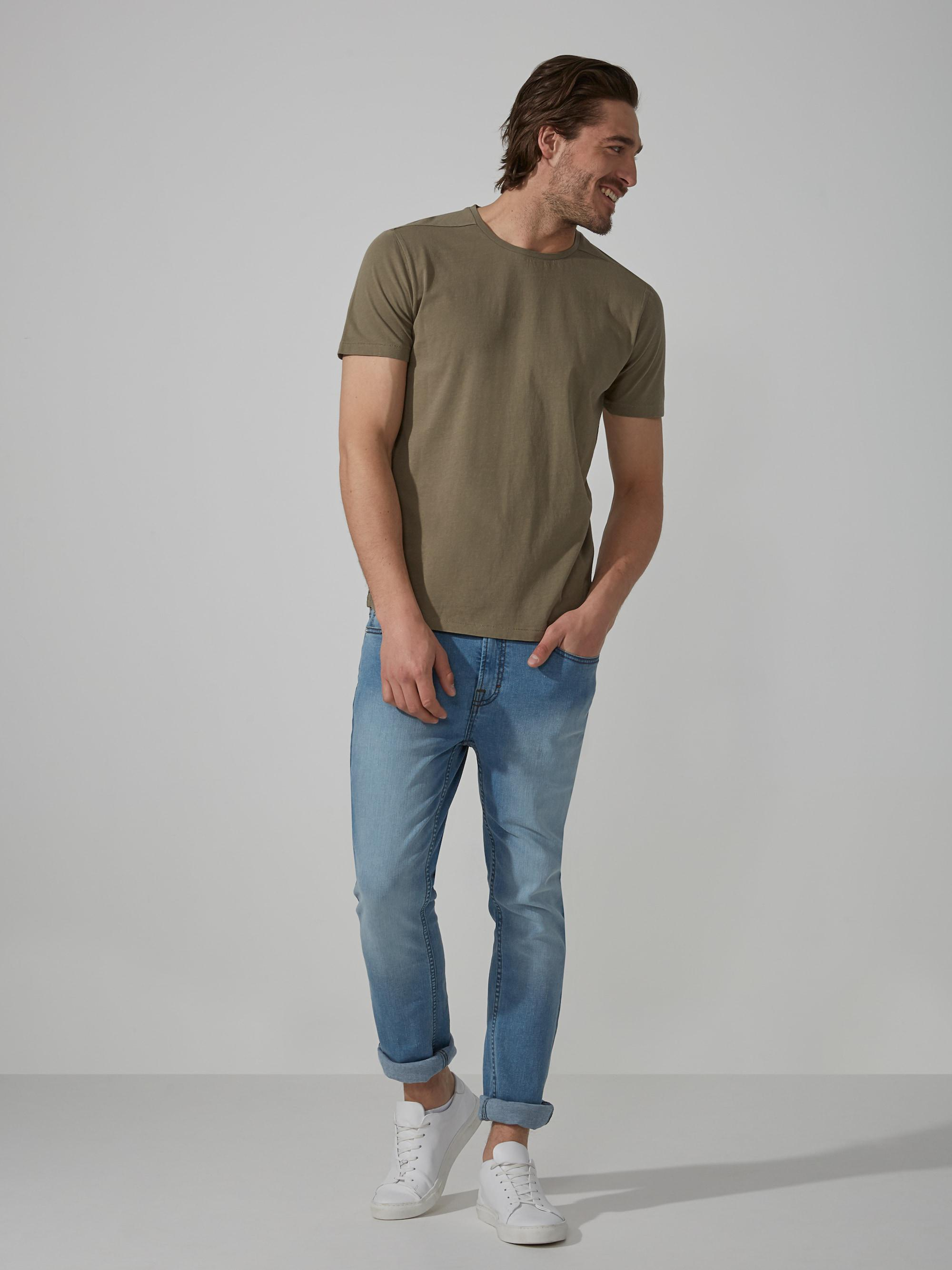 9d5a2a666e Lyst - Frank And Oak Loose-fit T-shirt In Washed Sage Green in Green ...