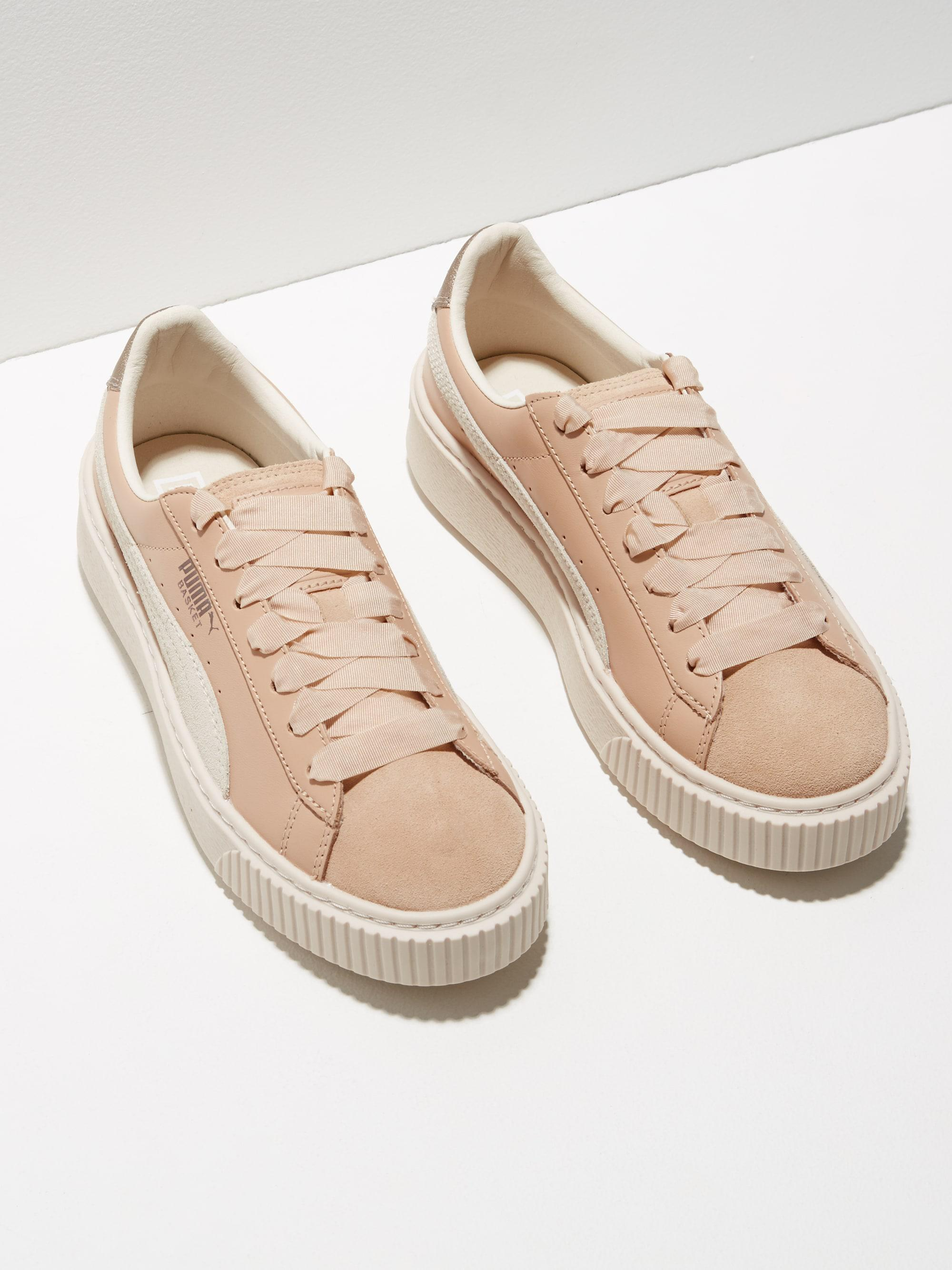 bf72f8068e225c Lyst - Frank And Oak Puma Basket Platform Suede Low Top Sneakers In ...