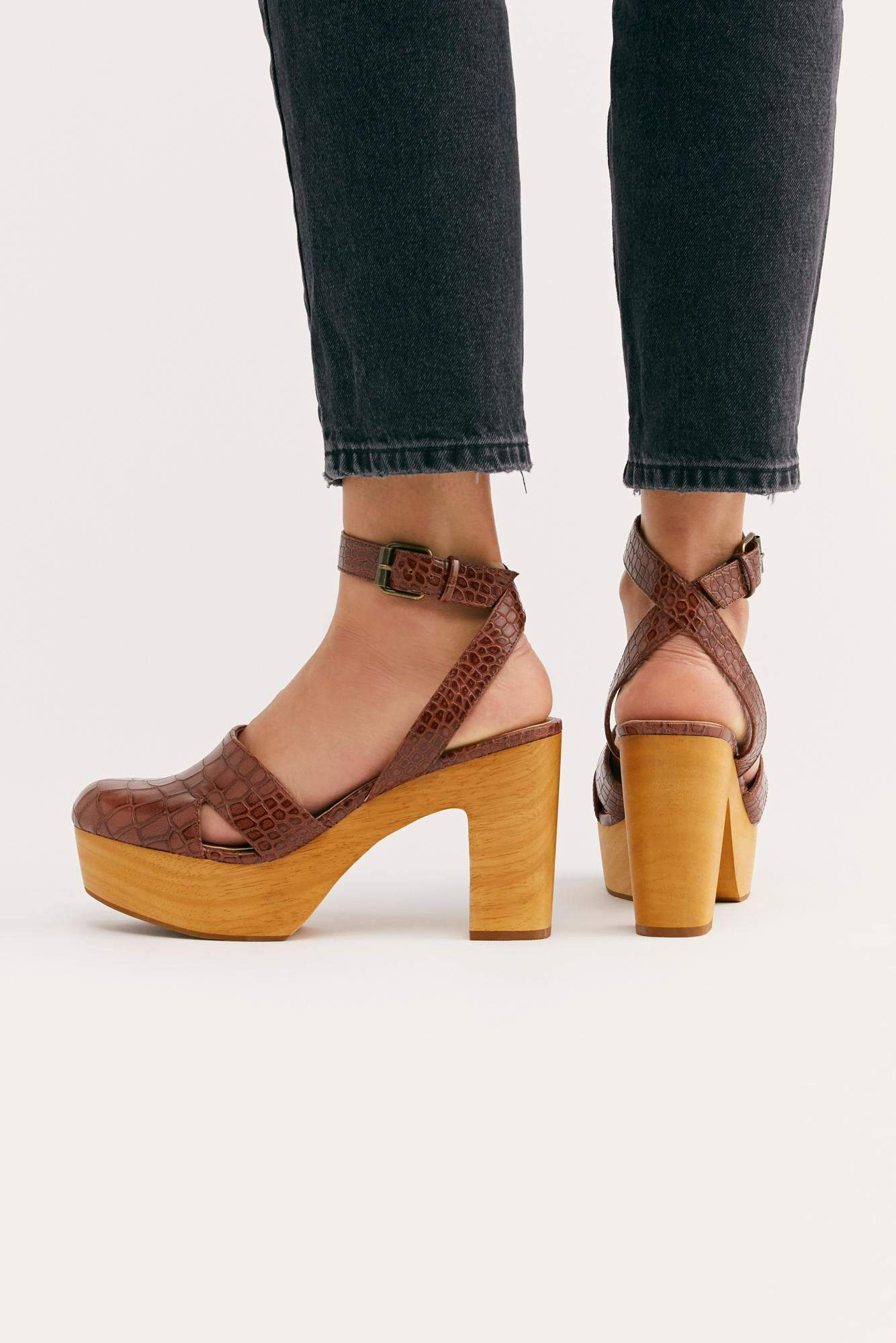 90e861818f8a Lyst - Free People Vegan Sunset Clog By Matisse in Brown