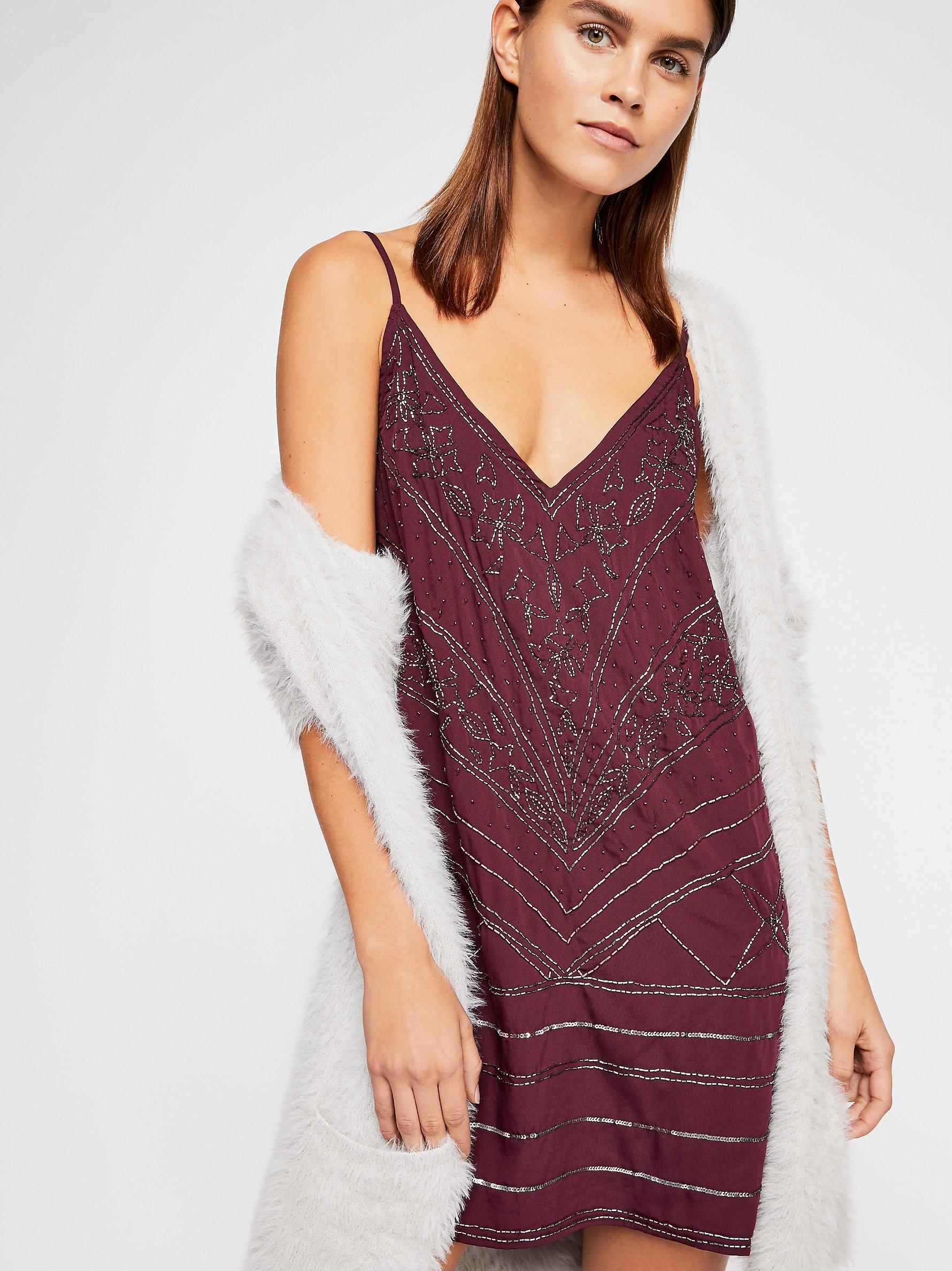e39b770b04431 Free People Make A Move Mini Slip By Intimately in Purple - Lyst