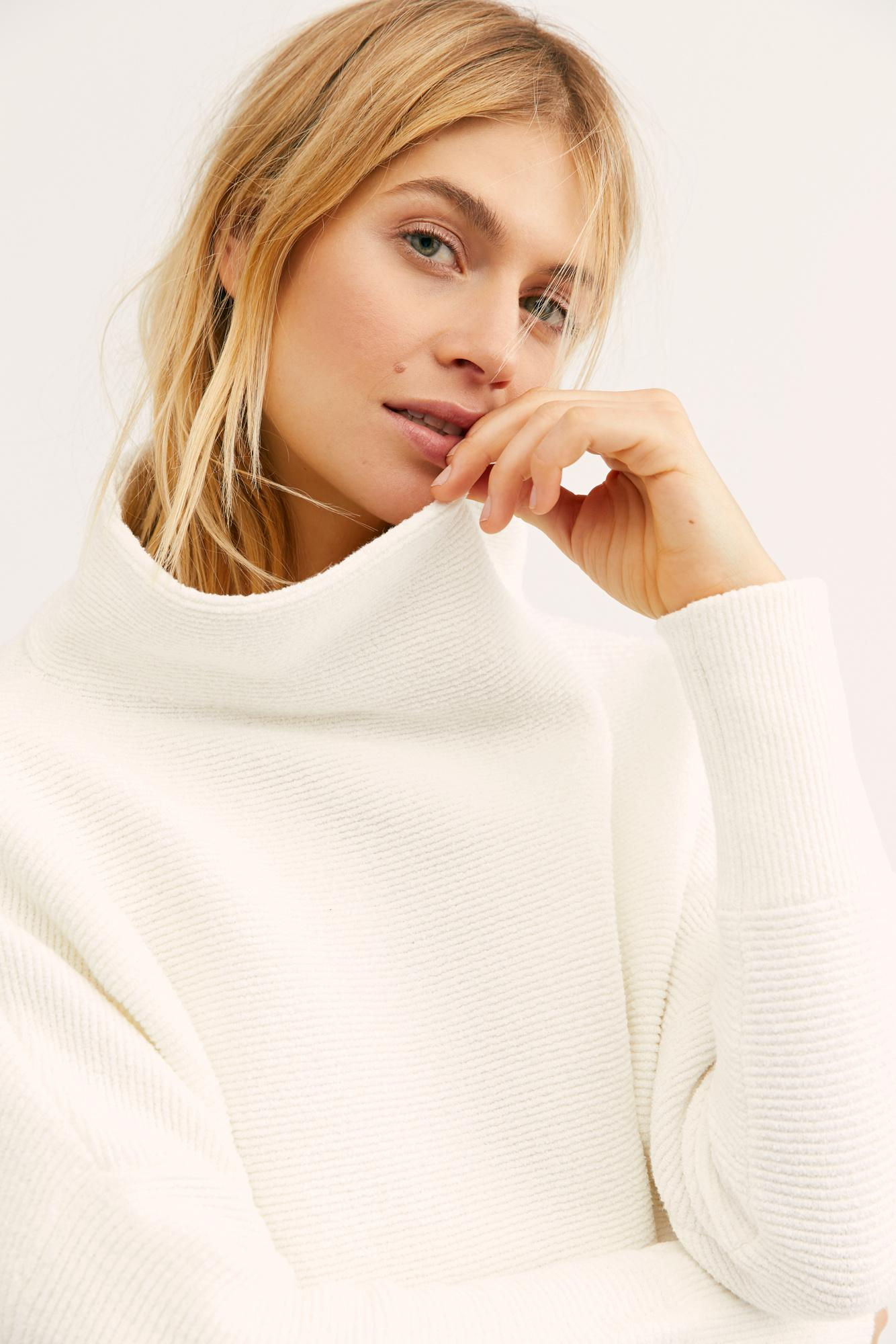 f106135f651 Free People Ottoman Slouchy Tunic in White - Lyst