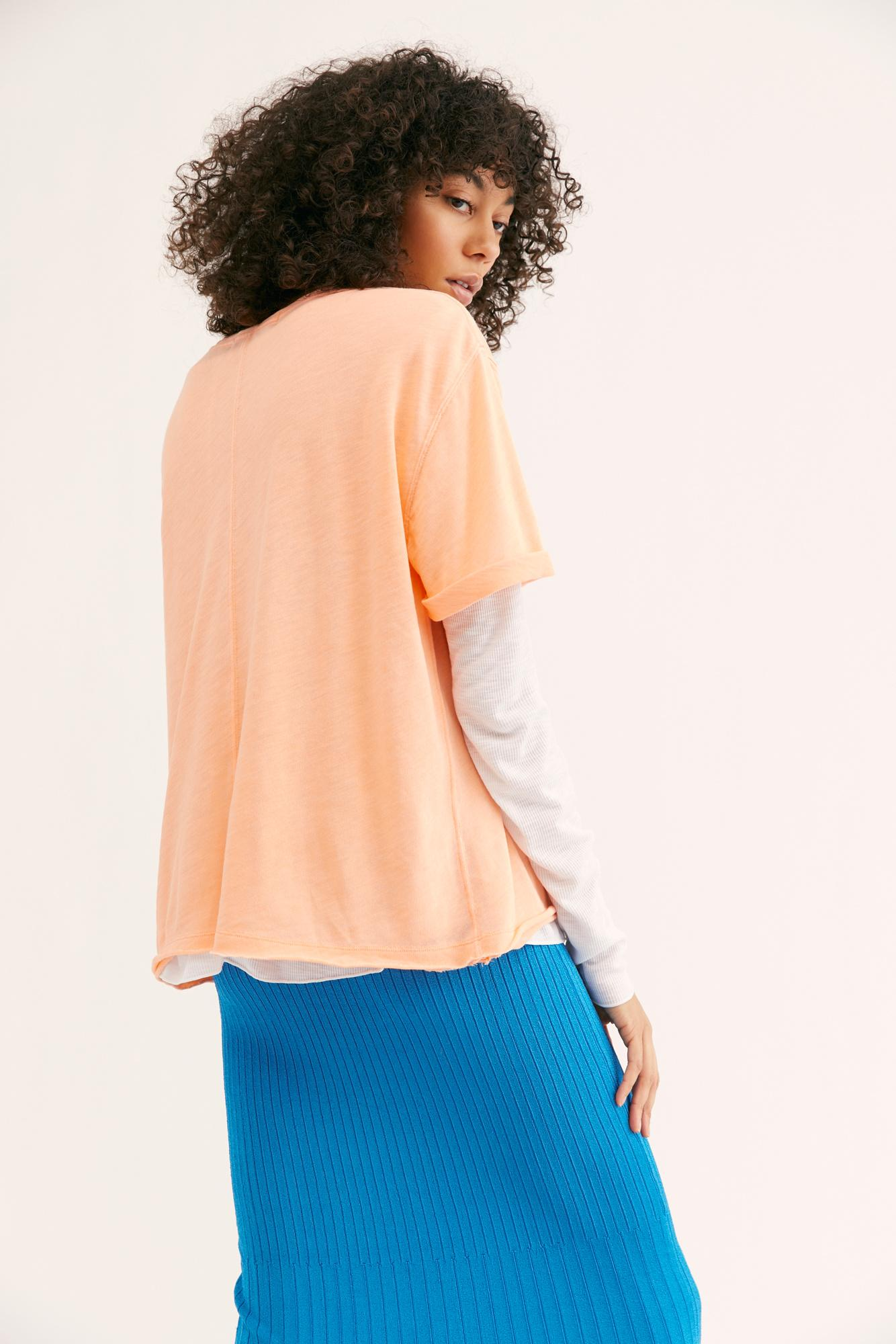 d53a0fa3f88a94 Lyst - Free People We The Free Cassidy Tee