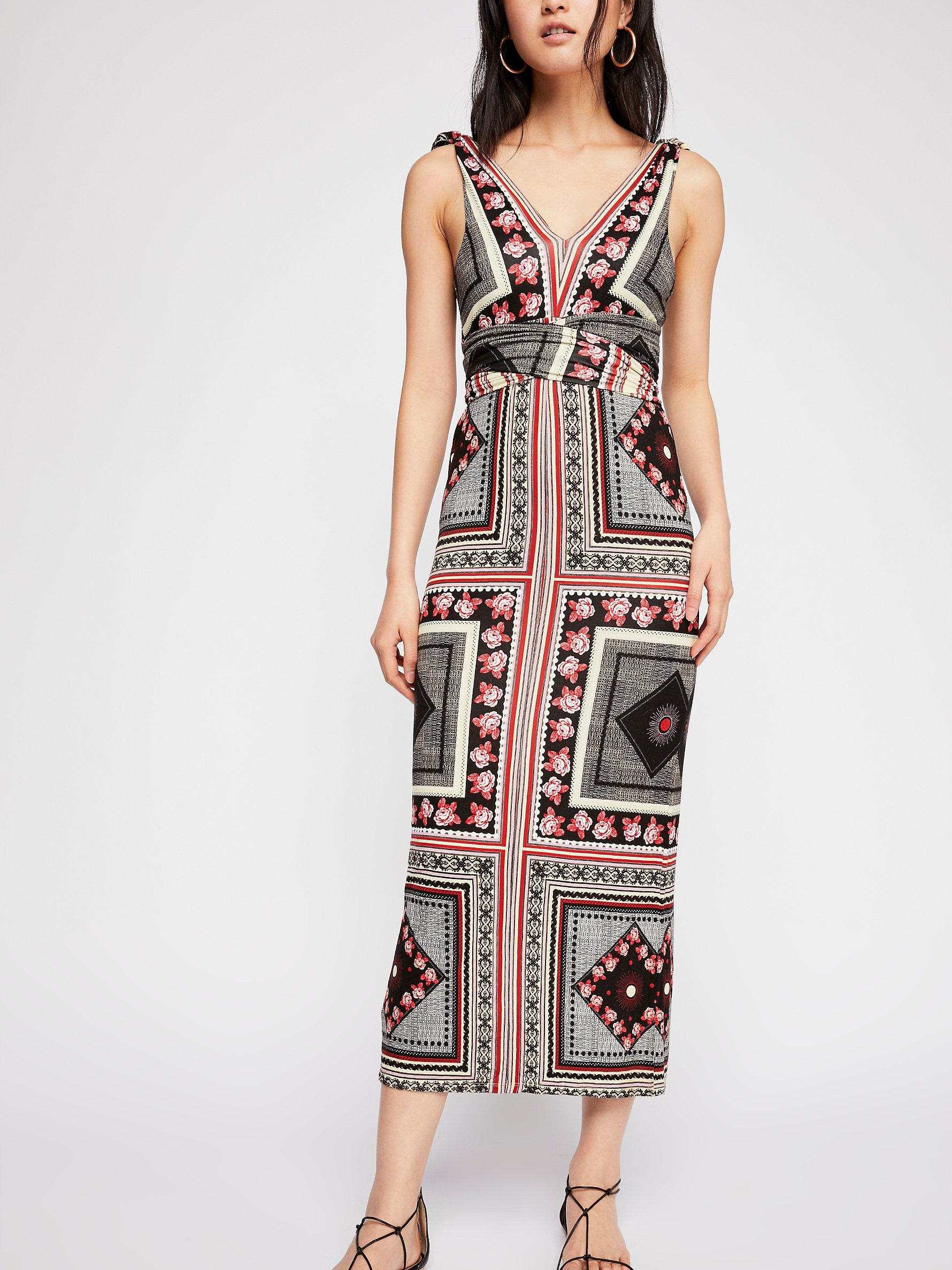 83dfb33a Free People Katie Patchwork Midi Dress - Lyst