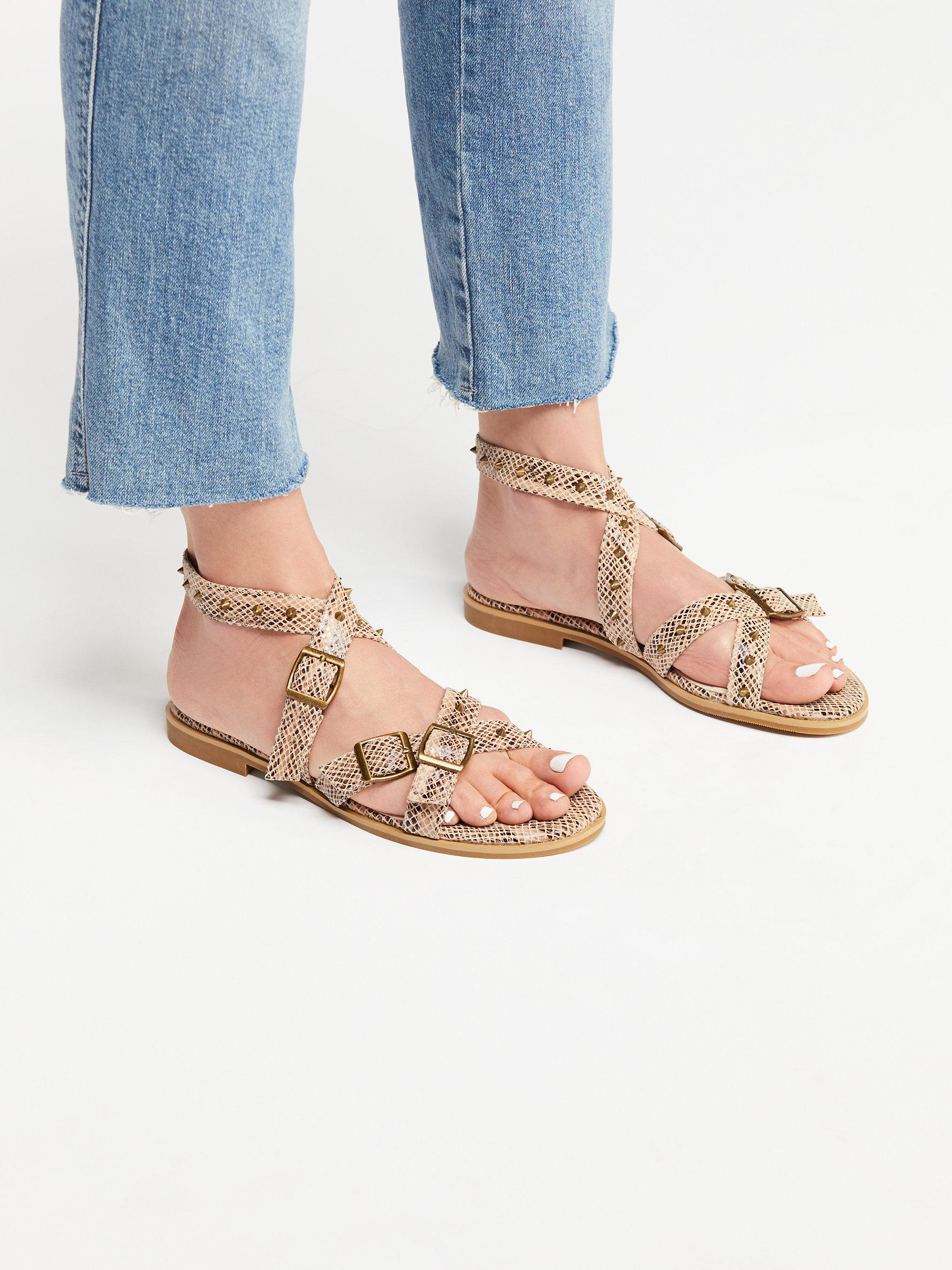f0e62b64837 Free People Picnic Stud Sandal in Metallic - Lyst