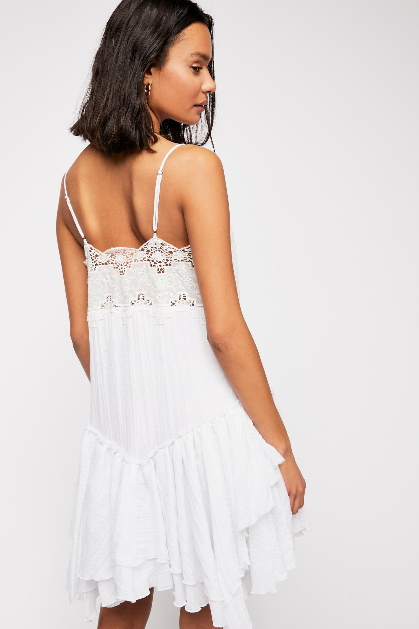 cc9b26323f75 Lyst - Free People In The City Sundress in White