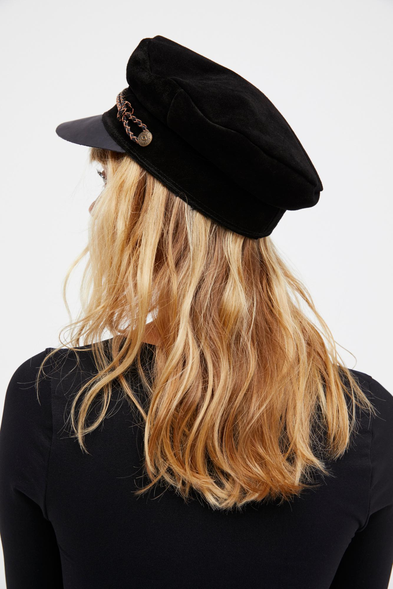 526fbf9a05b Lyst - Free People Kayla Leather Lieutenant By Brixton in Black