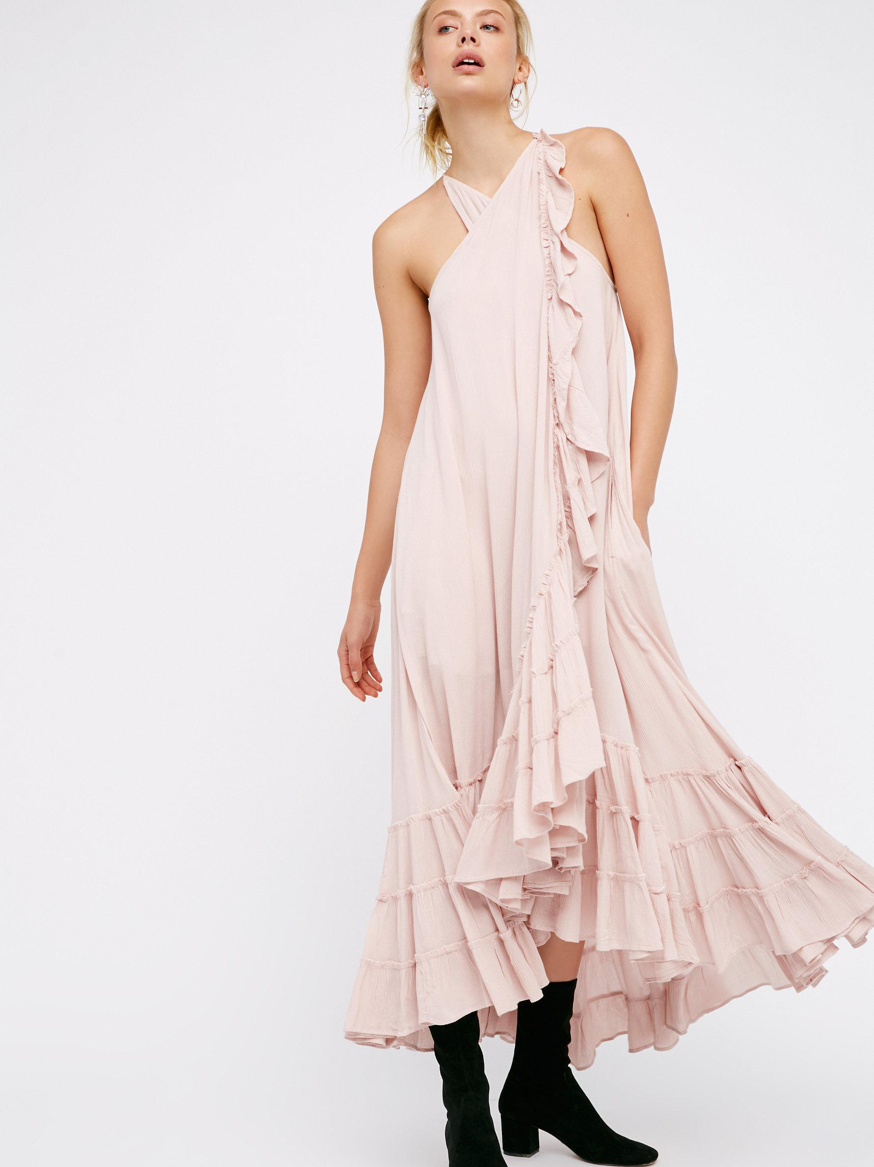 04f31cfa1d Free People Wrap Around Maxi Dress in Pink - Lyst
