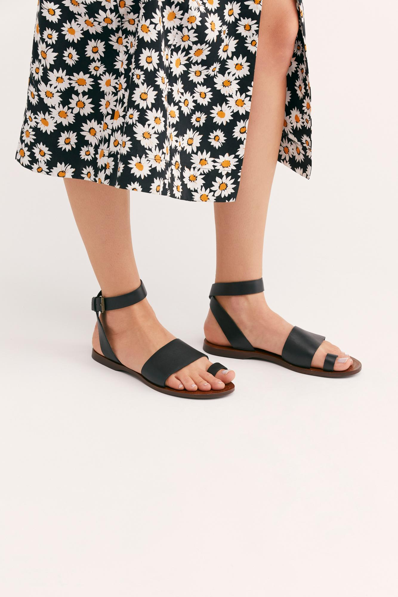 d15287d9274 Free People - Black Torrence Flat Sandal By Fp Collection - Lyst. View  fullscreen