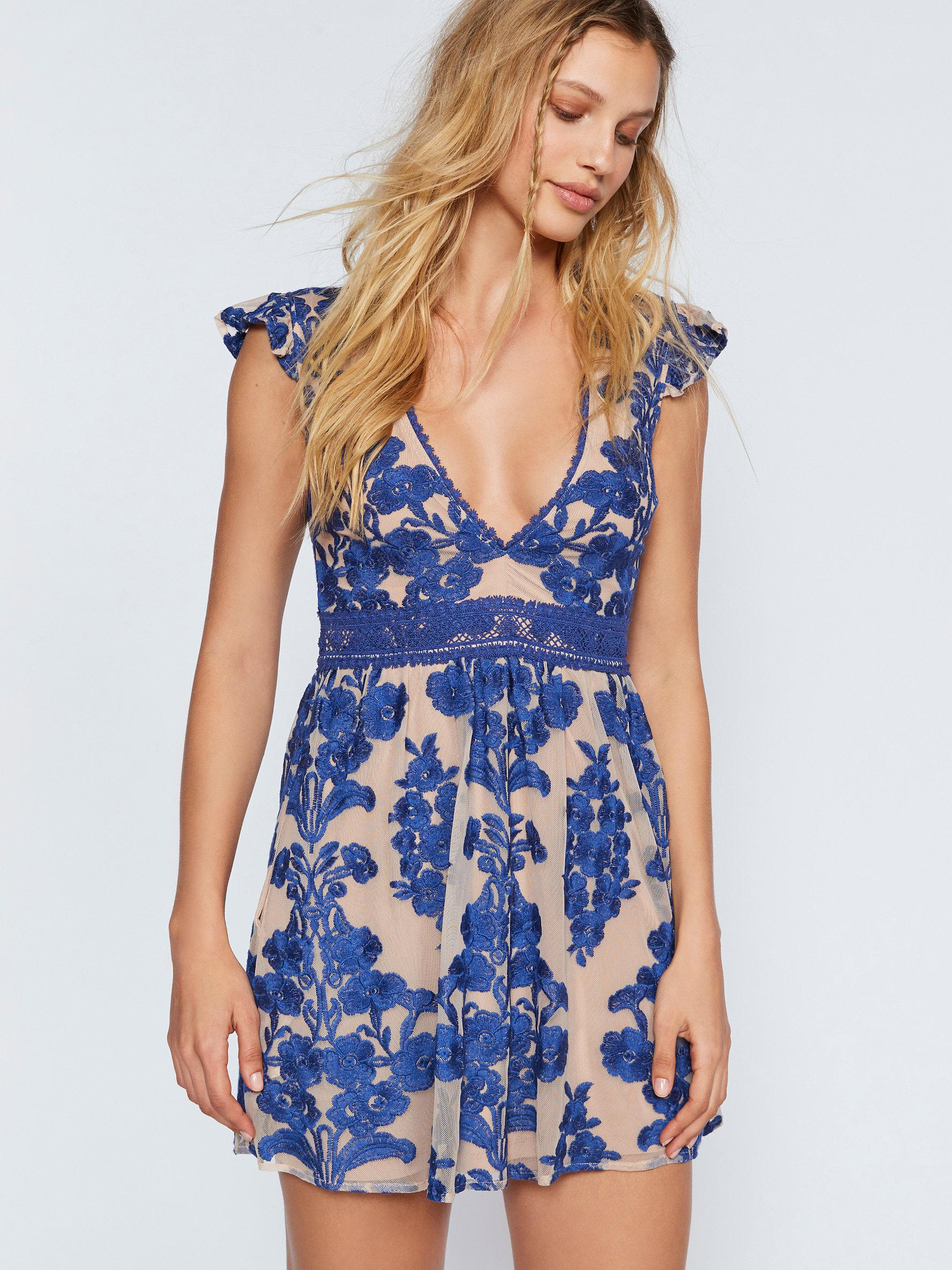 03bc8a2d789 Free People Temecula Fit-and-flare Dress in Blue - Lyst