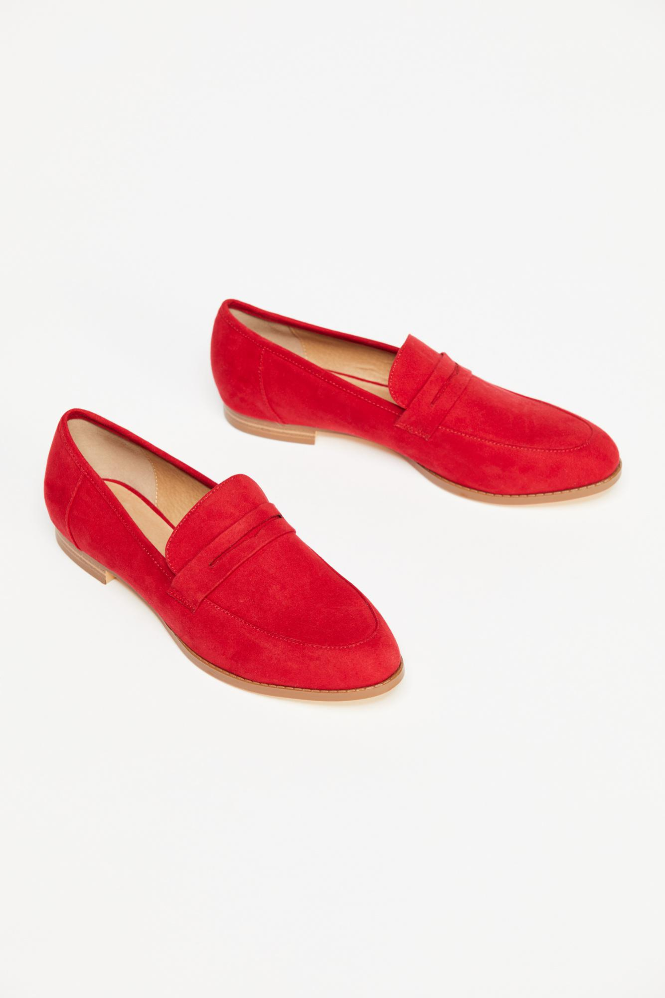 292e9b3c99c Lyst - Free People Lou Lou Penny Loafer By Restricted in Red