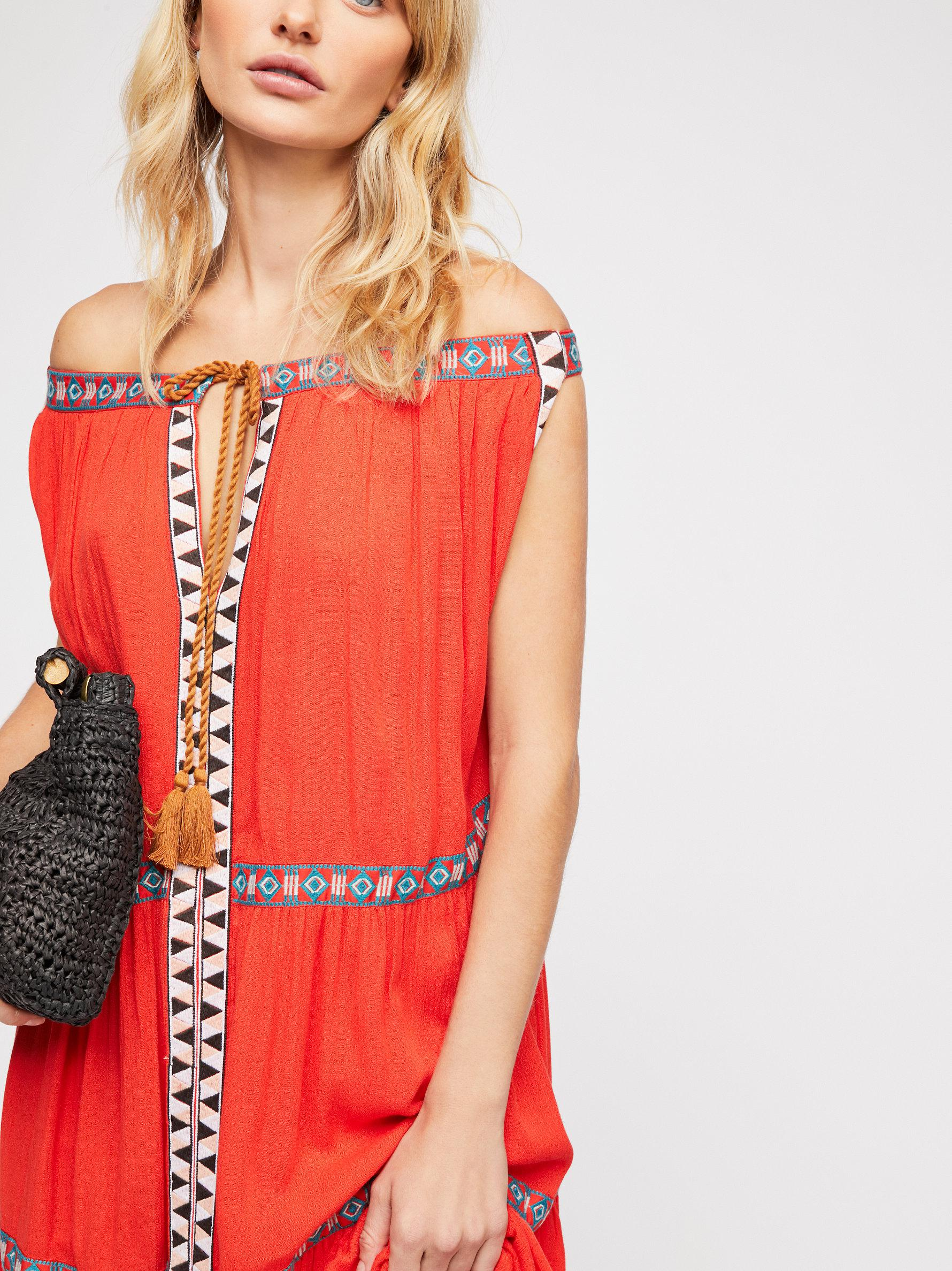 517652380a Free People Layla Maxi Dress in Red - Lyst