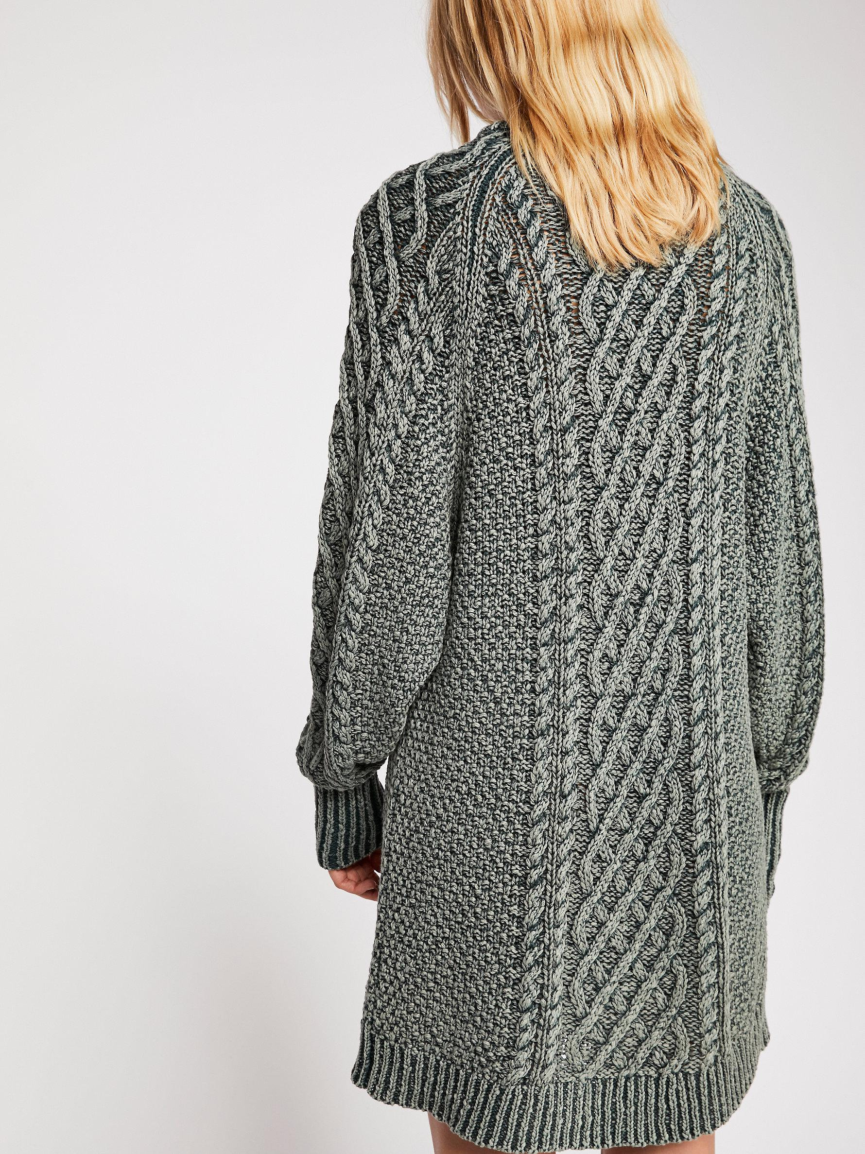 bd17976e5cb5d Free People On A Boat Sweater Dress in Gray - Lyst