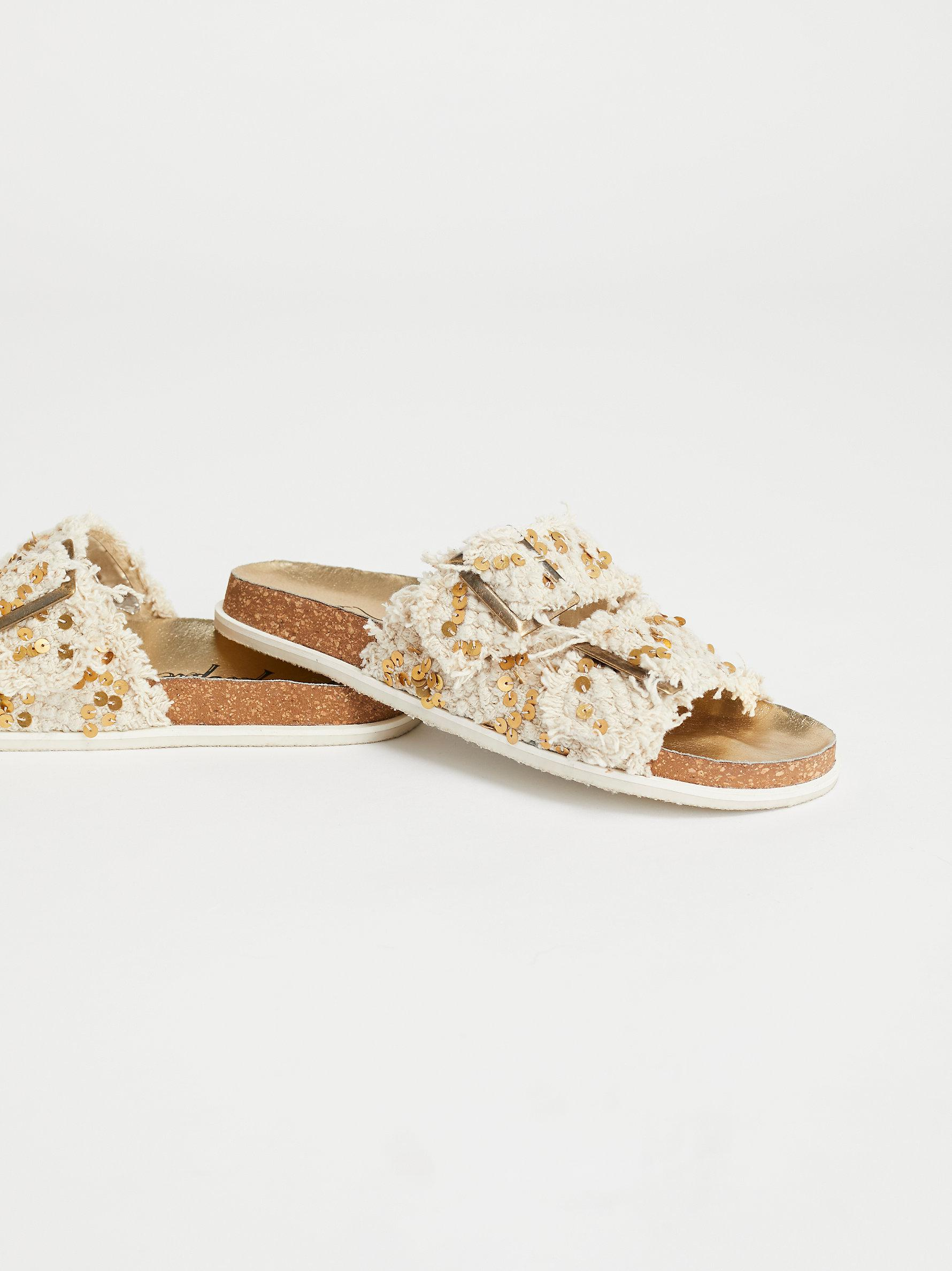 ff8d50d79ff Free People - Natural Bali Footbed Sandal - Lyst. View fullscreen