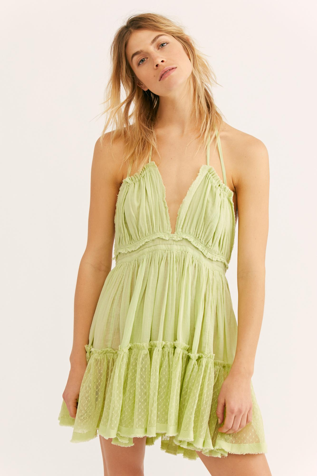 3217474c00f94 Lyst - Free People 100 Degree Mini Dress By Endless Summer in Green