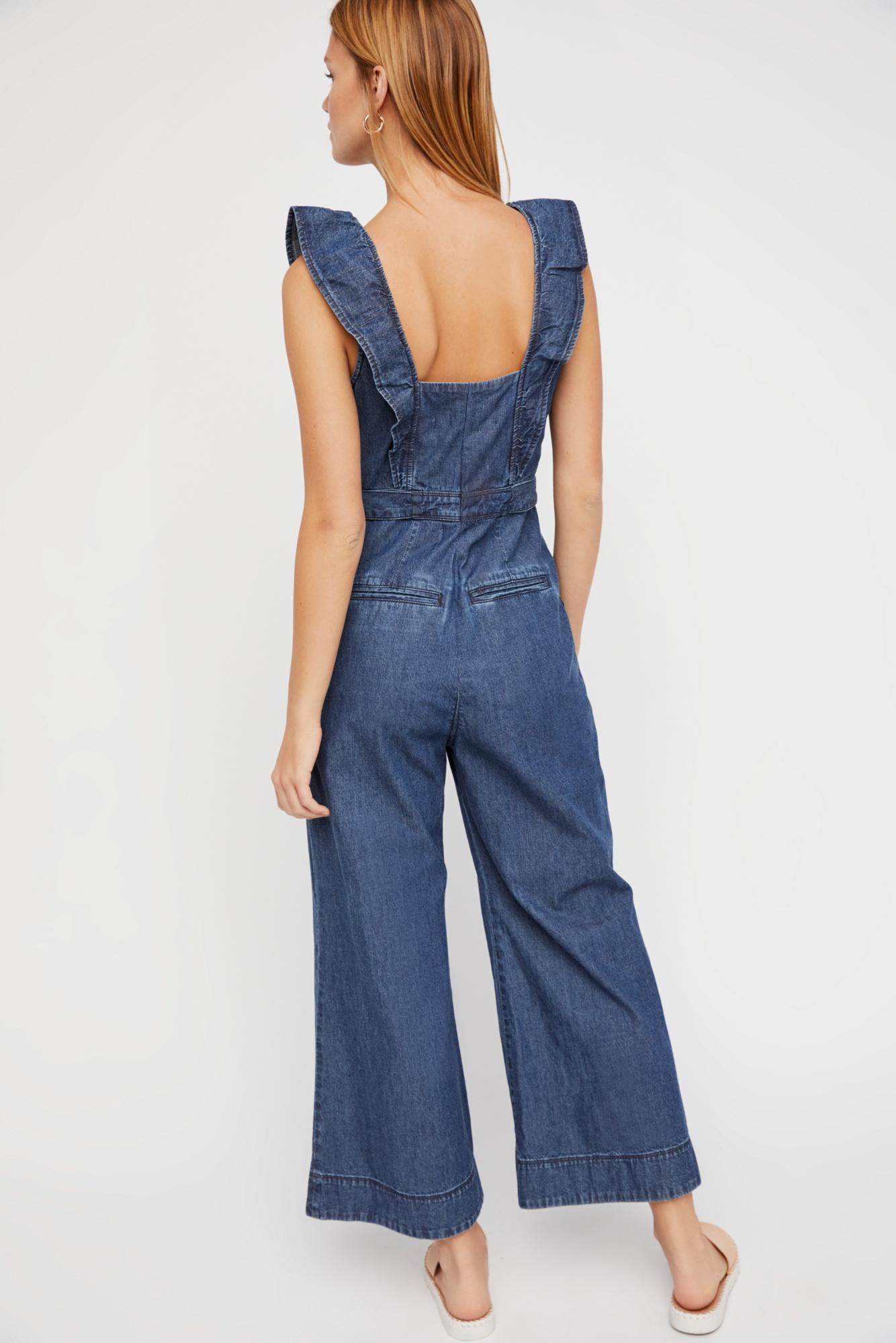 e70087fe0e80 Free People Sun Valley Jumpsuit By We The Free in Blue - Lyst