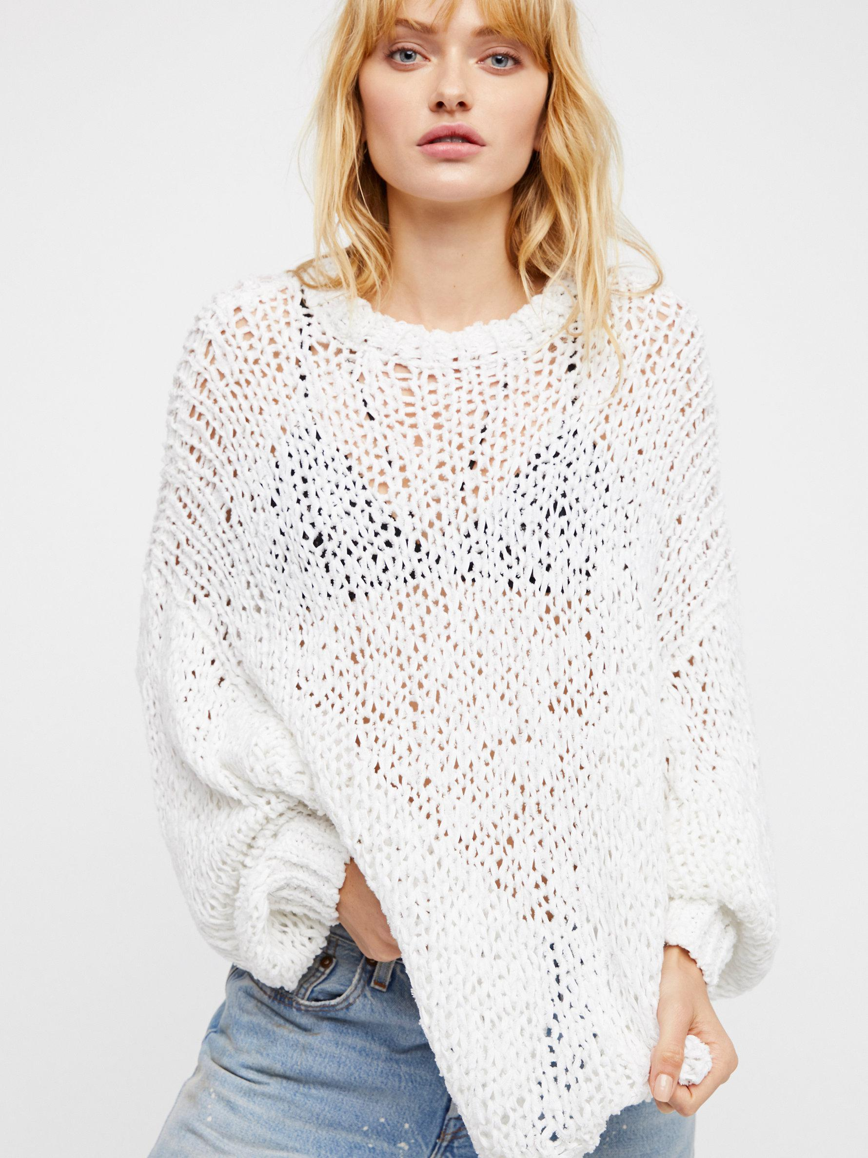 ed4437bc67d6 Lyst - Free People Beach Girl Sweater in White
