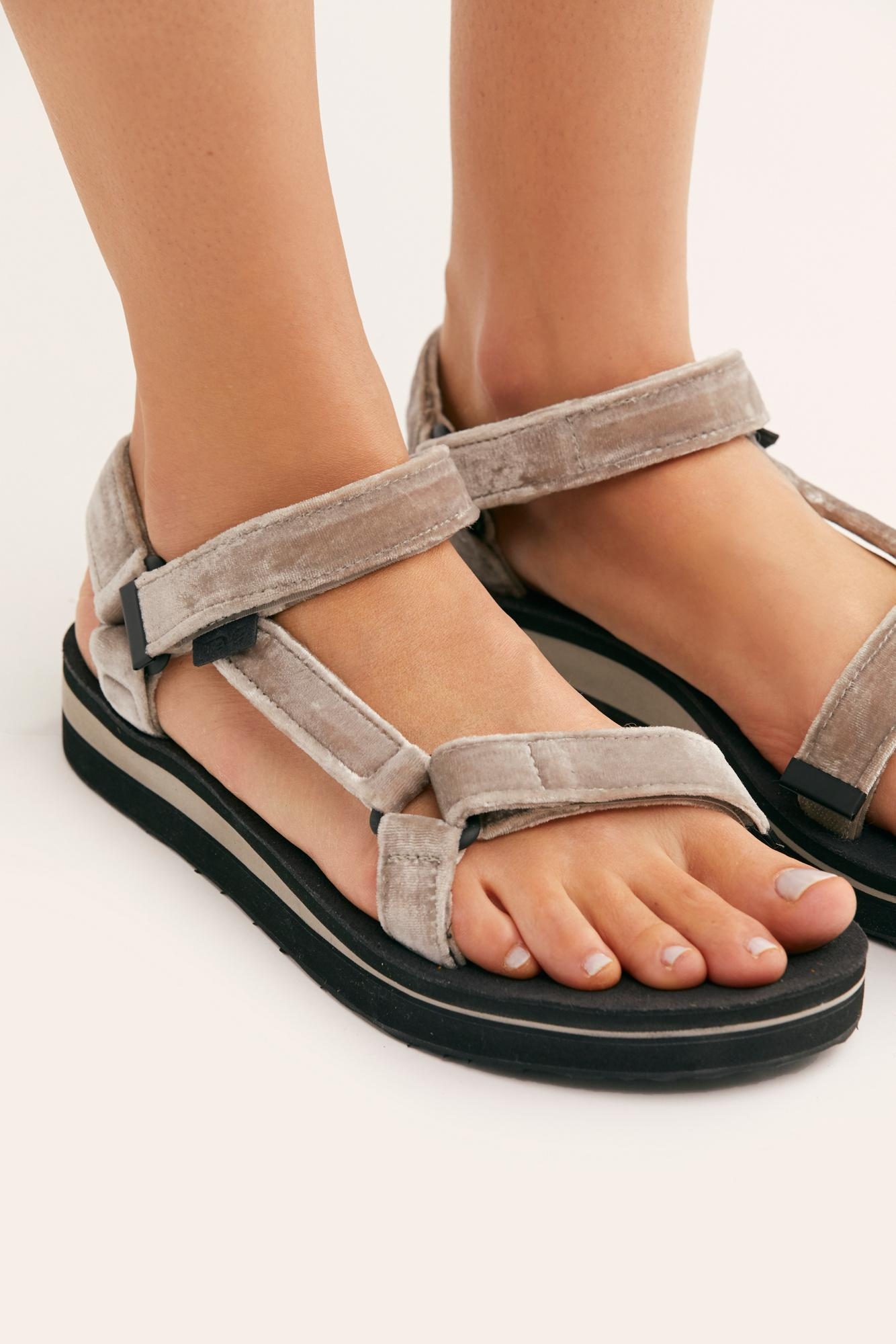 cdc0cbe5718 Free People Midform Universal Holiday Sandal By Teva in Metallic - Lyst
