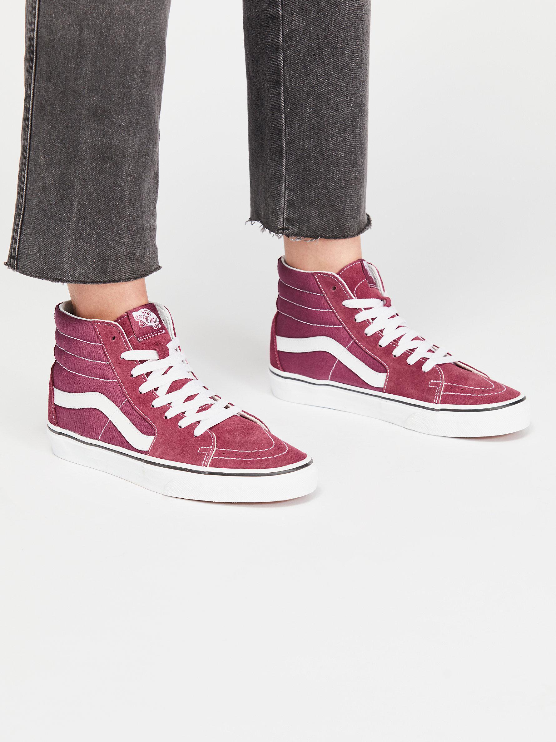 82e48dff5d77bb Lyst - Free People Vans Sk8-hi Top Sneaker in Pink