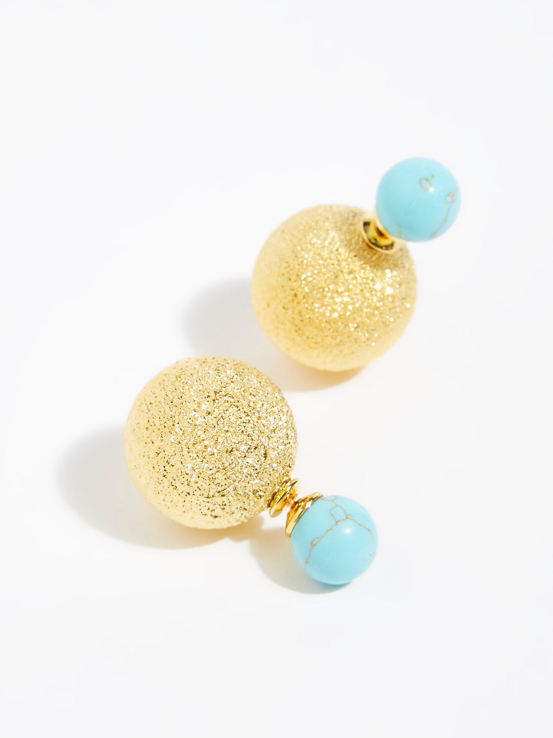 e32b511ad Free People Double Sided Orbit Stud Earrings in Metallic - Lyst