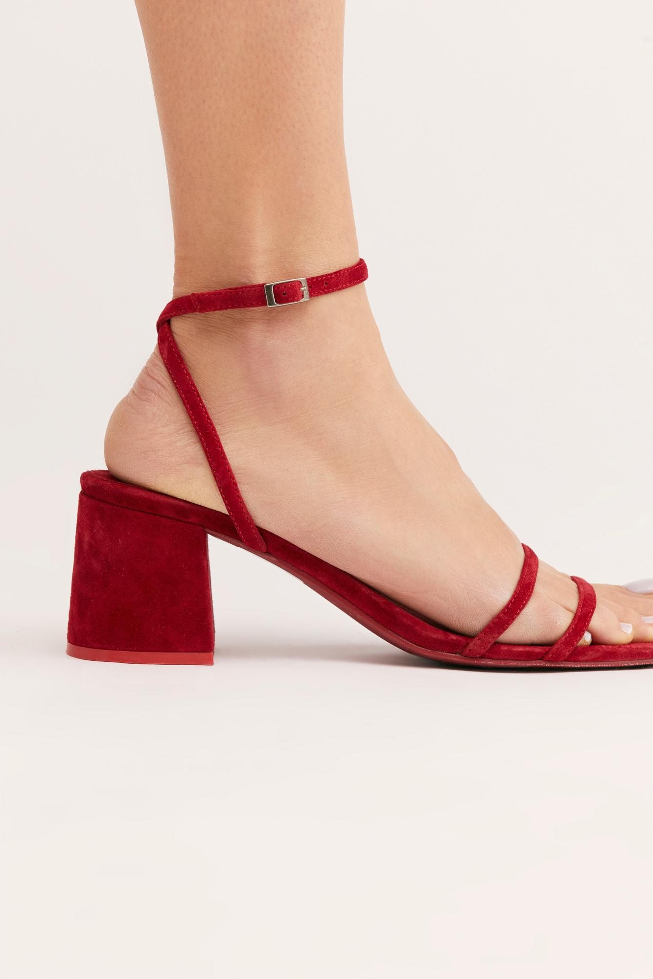 7dcd81615f Free People Gabby Block Heel By Fp Collection in Red - Lyst