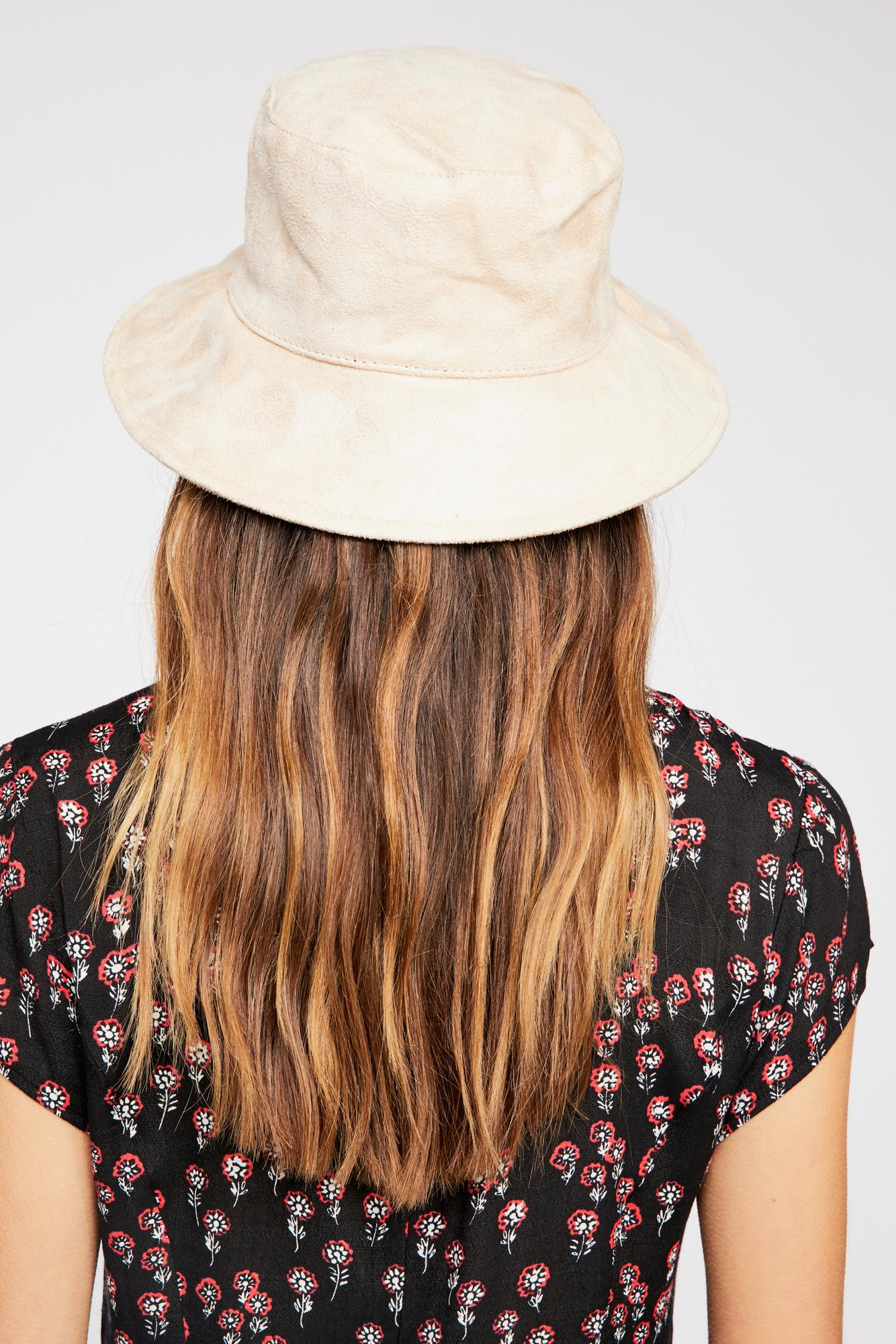 b4ce317182e Lyst - Free People Haven Vegan Suede Bucket Hat in White