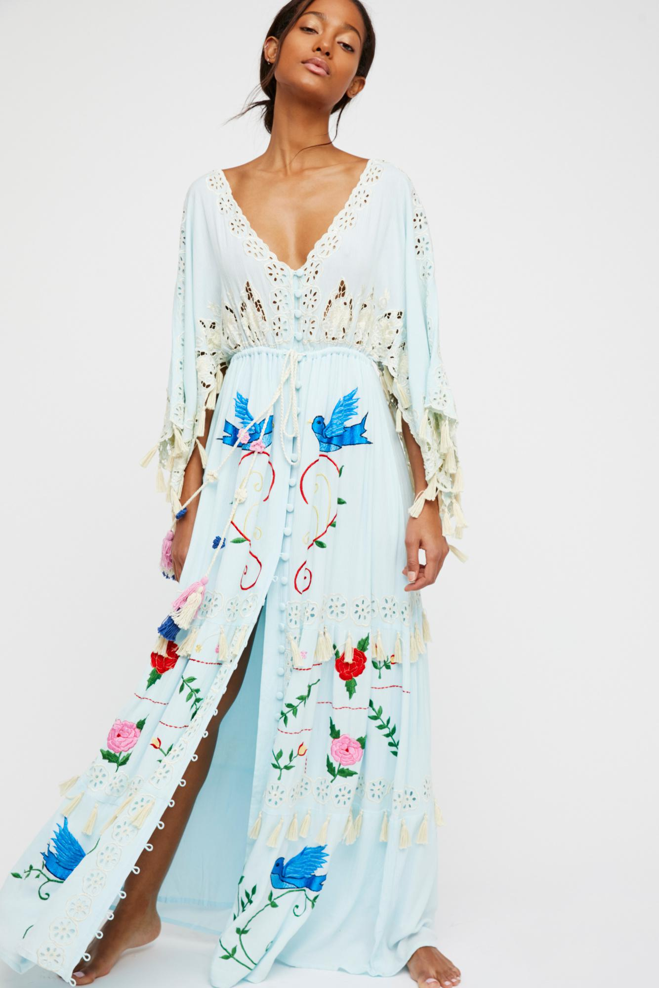 cb635eda9c Free People Heart On The Floor Kimono By Fillyboo in Green - Lyst